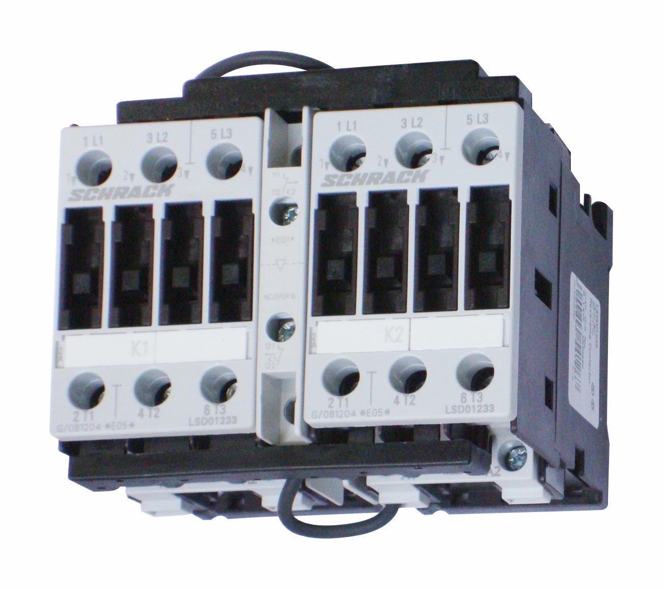 1 Stk Wendeschützkombination, 5,5kW, 12A AC3, 230VAC, 0 LSW01233--