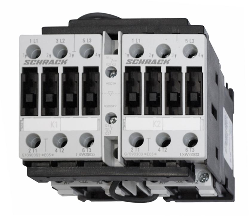 1 Stk Wendeschützkombination, 37kW, 80A AC3, 230VAC, 3 LSW38033--