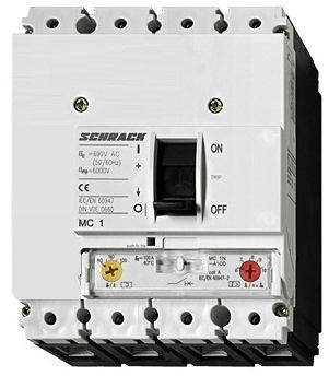 1 Stk Leistungsschalter Type A, 4-polig, 25kA, 100A MC110141--