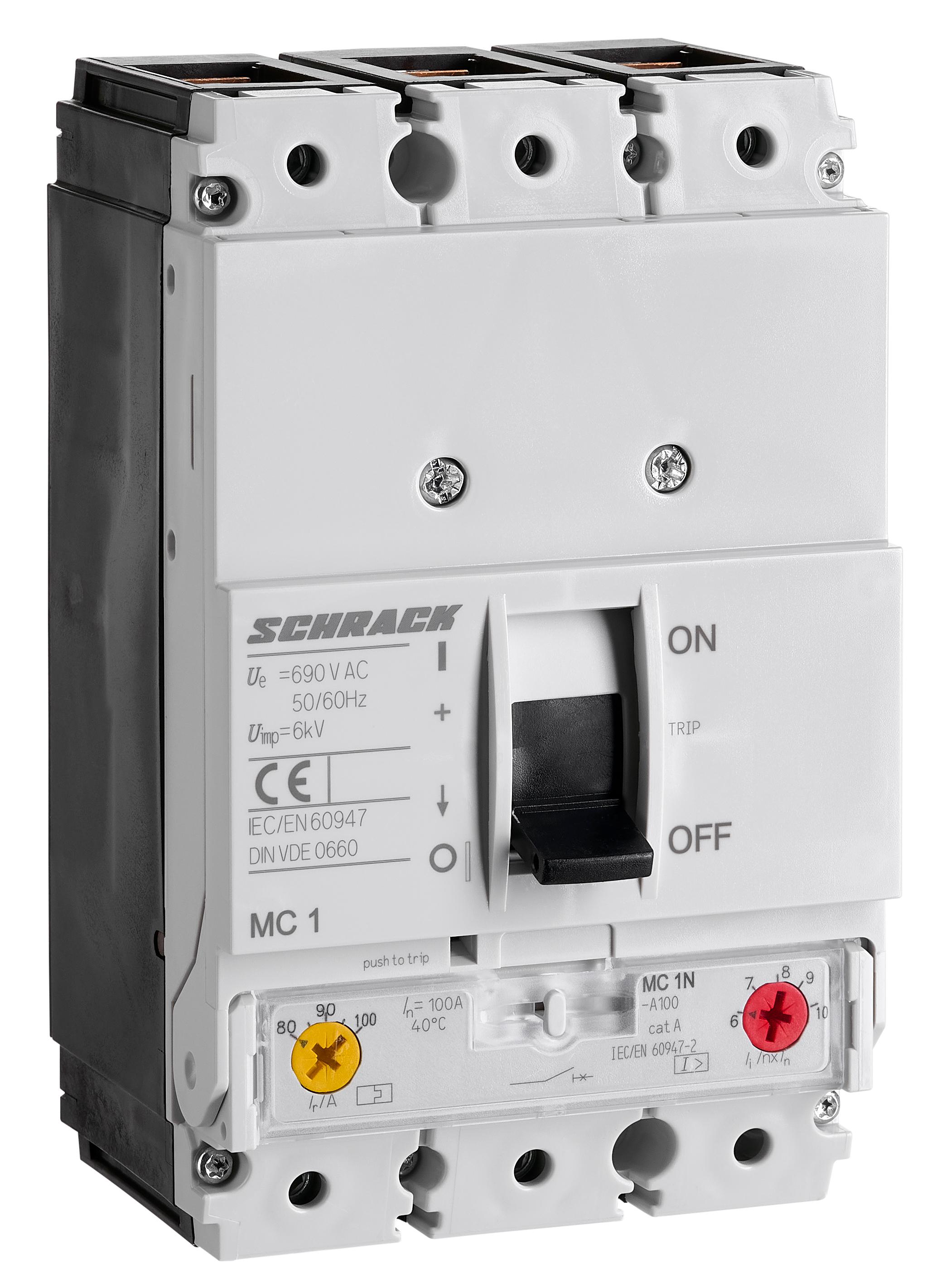 1 Stk Leistungsschalter Type A, 3-polig, 50kA, 100A MC110231--