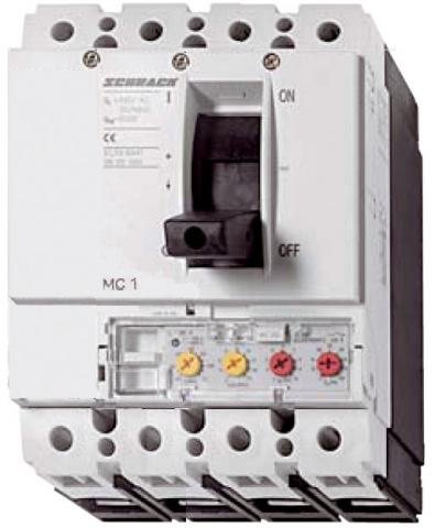 1 Stk Leistungsschalter Type A, 4-polig, 25kA, 125A MC112141--