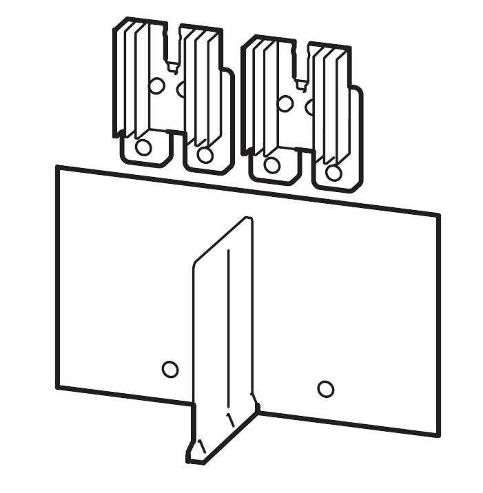 1 Stk Serienverbinder Gr.3, 4/2-polig, isoliert, mit Kühlkörper MC390600--
