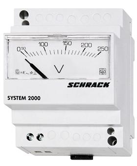 1 Stk Voltmeter, Reiheneinbau, AC, 250V, direkt analog MG059250--