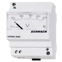 1 Stk Voltmeter, Reiheneinbau, AC, 500V, direkt analog MG059500--