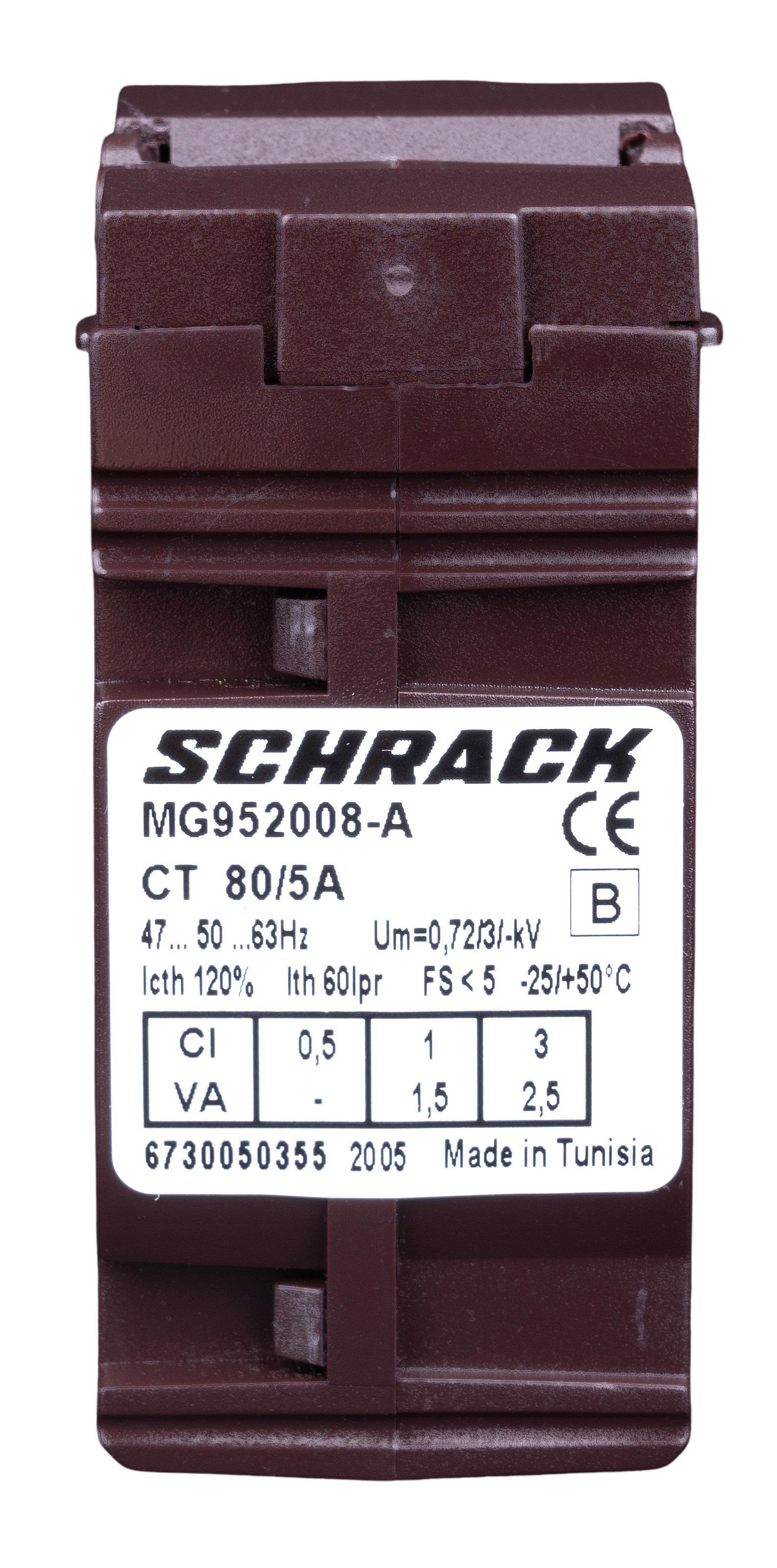 1 Stk Durchsteckstromwandler für Kabel 21mm, 80/5A, Klasse 1 MG952008-A