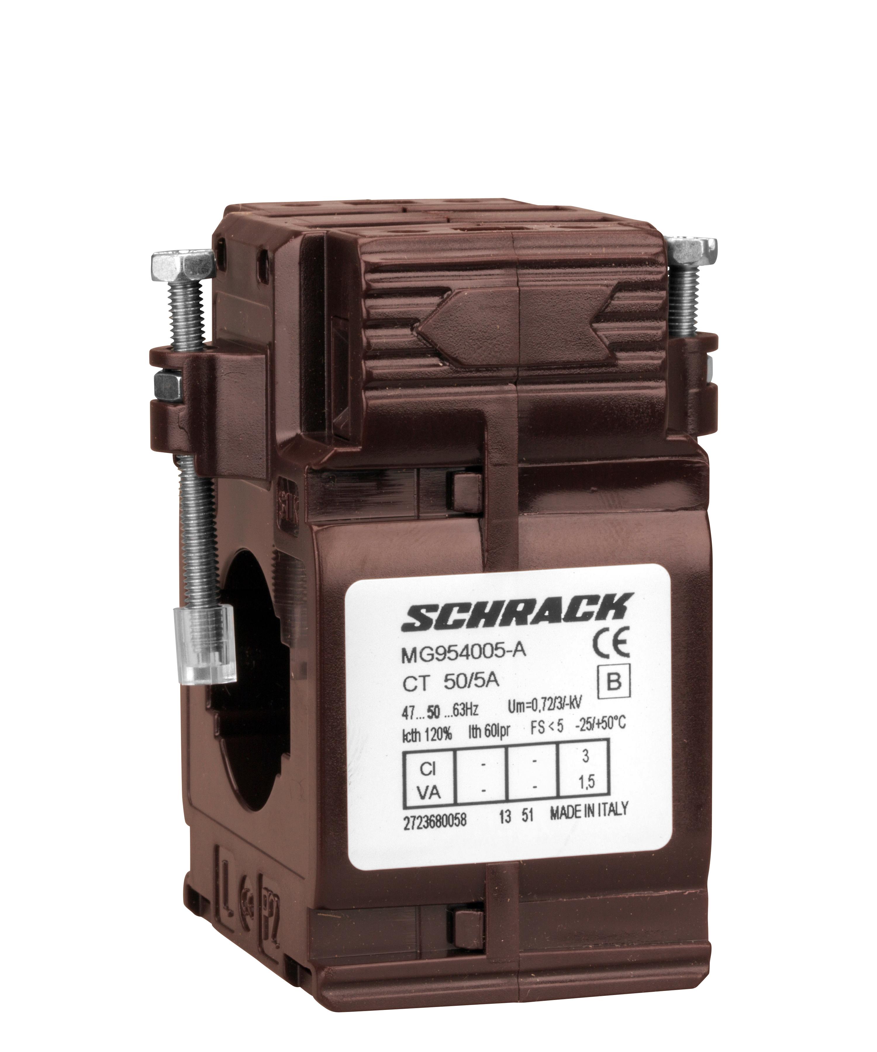 1 Stk Durchsteckstromwandler, 50A/5A, 30x10mm, Klasse 3 MG954005-A