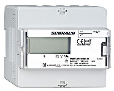 1 Stk Bezugs- und Lieferungs - kWh-Zähler, 1 Tarif,Wandler 5A,RE MGDIZ806--