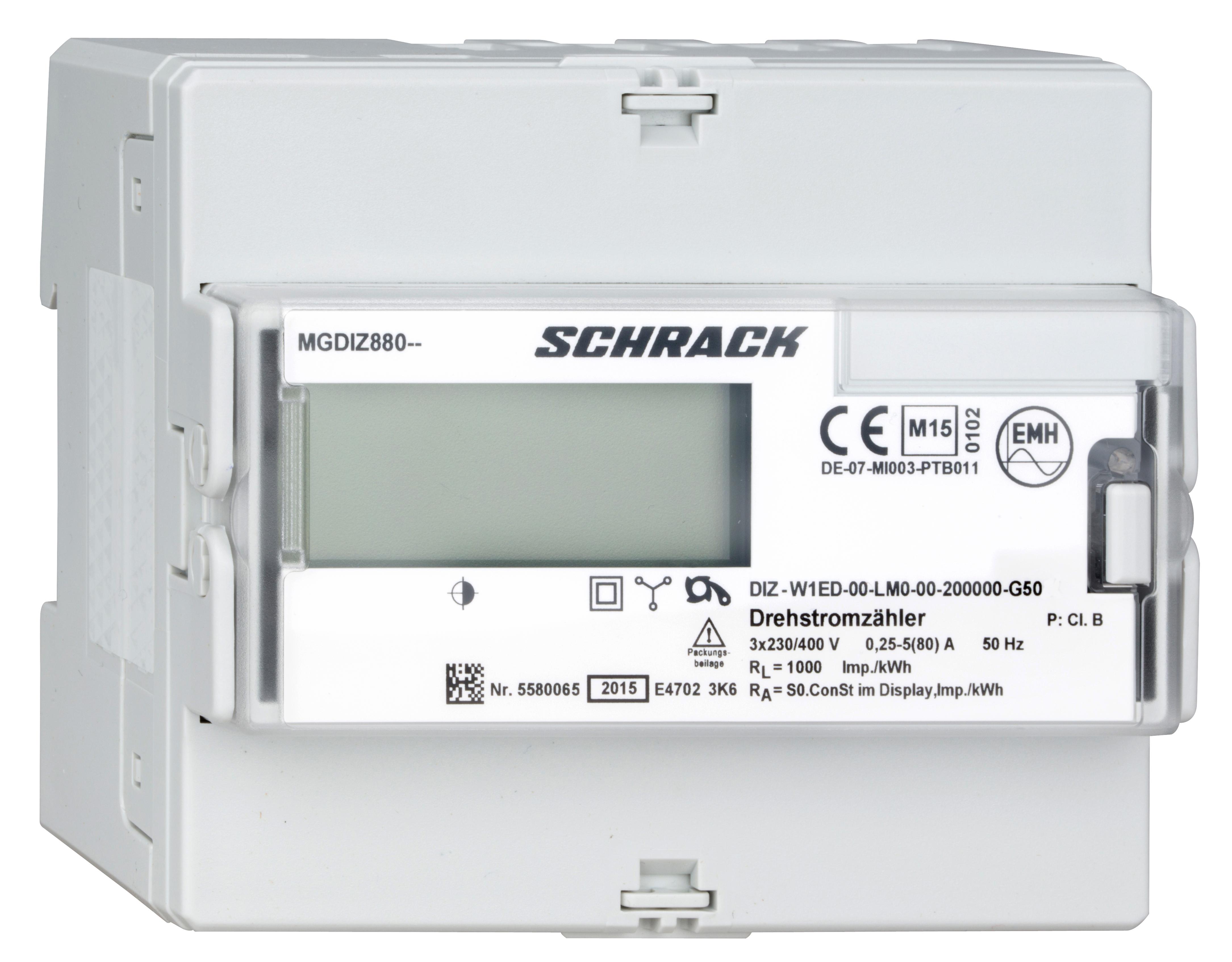 1 Stk Bezugs- und Lieferungs - kWh-Zähler, direkt 80A, RE MGDIZ880--