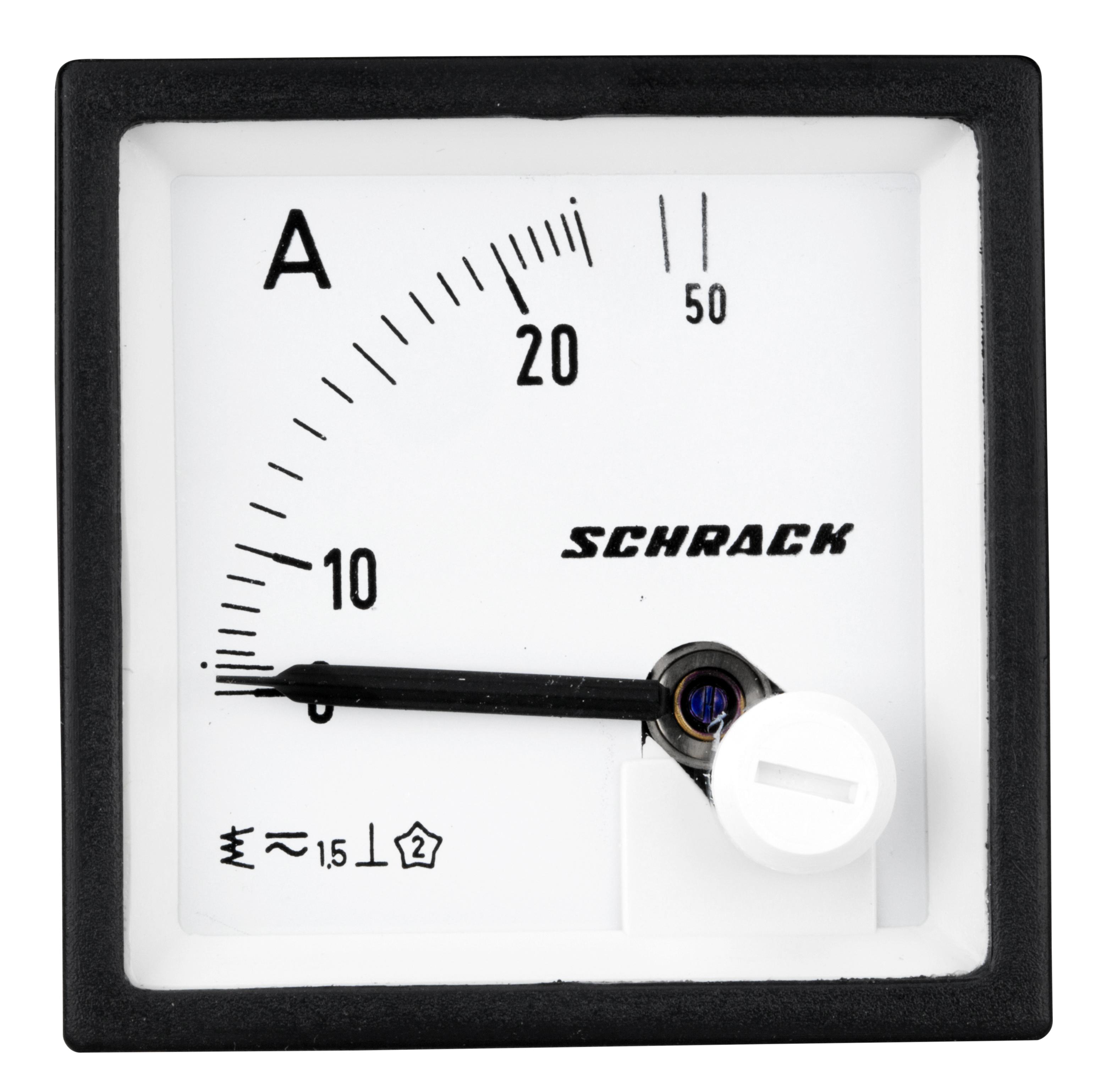 1 Stk Amperemeter, 48x48mm, 25A AC Direktmessung MGF54025-A