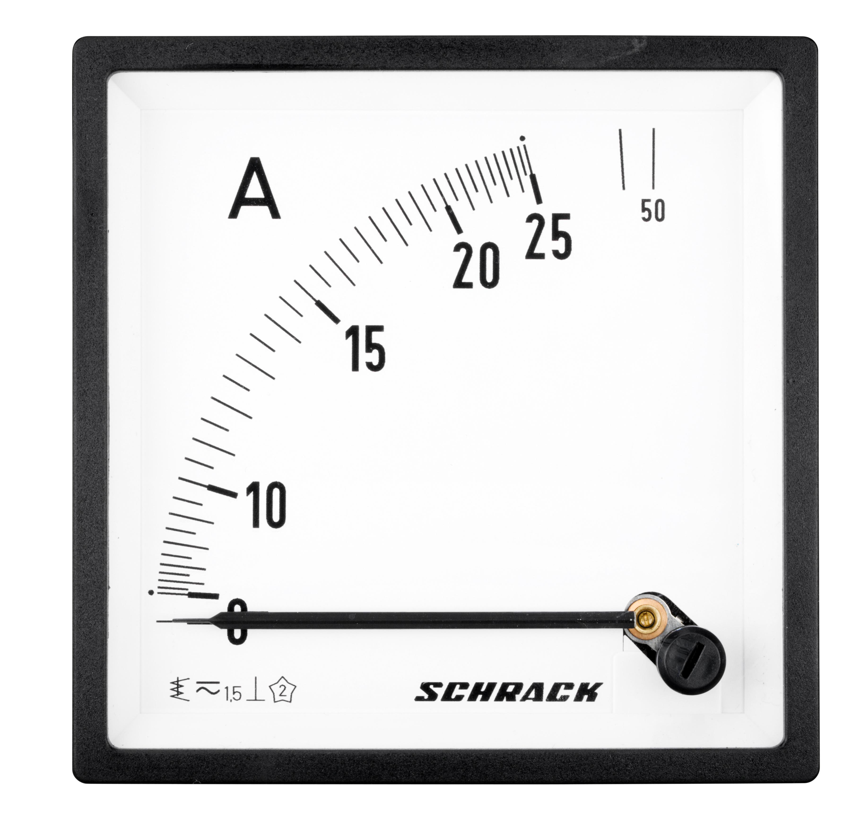 1 Stk Amperemeter, 96x96mm, 25A AC Direktmessung MGF59025-A