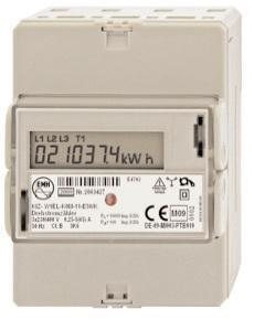 1 Stk Digitaler Drehstromzähler 65A, 2 Tarife, m. MID und M-Bus MGKIZ365--