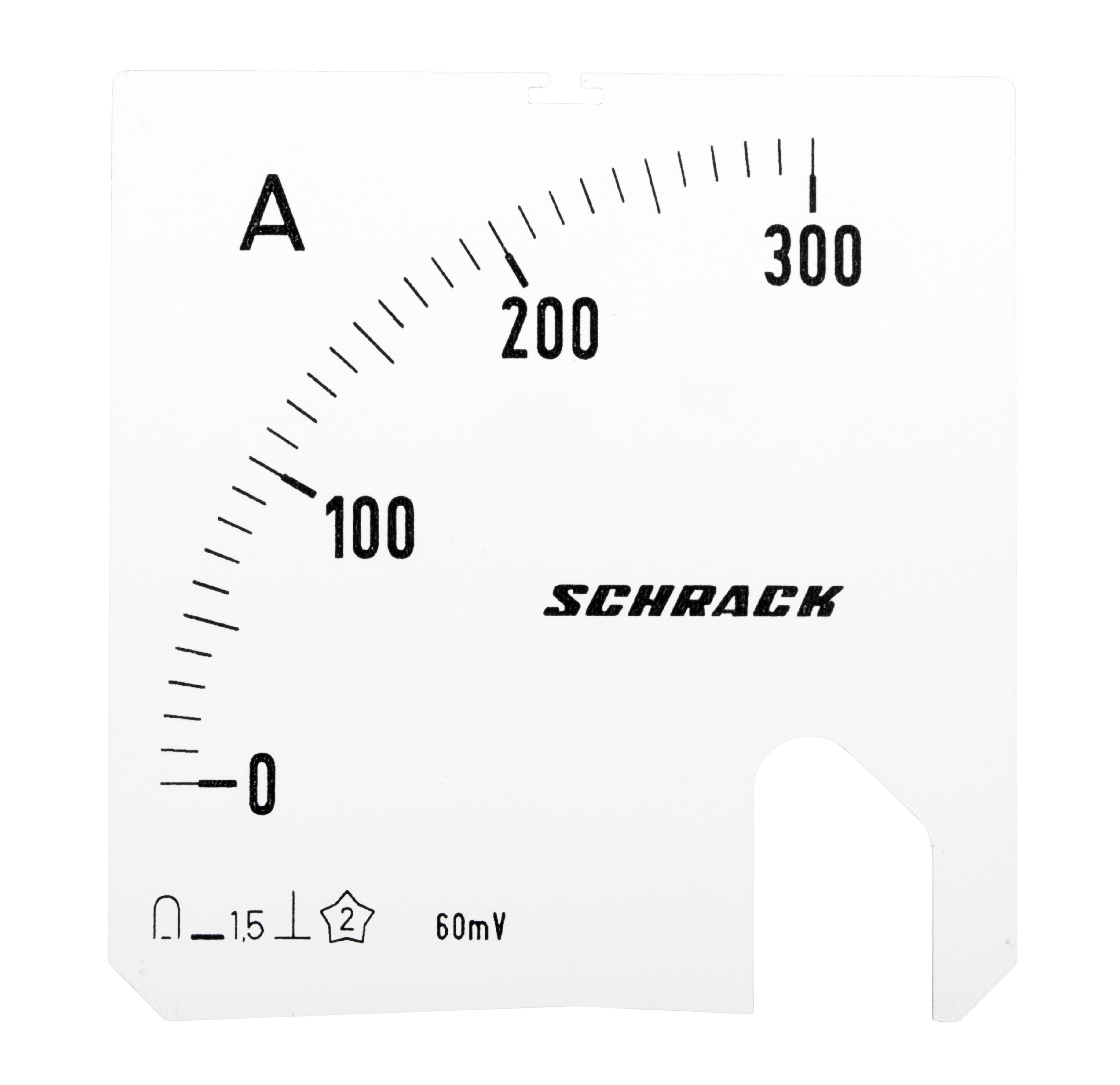1 Stk Wechselskala, 72x72mm, 300A DC MGS17300-A