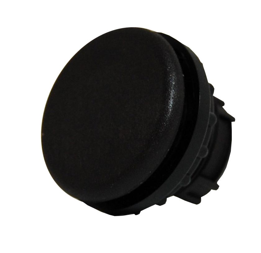 1 Stk Blindverschluss schwarz rund MM216390--