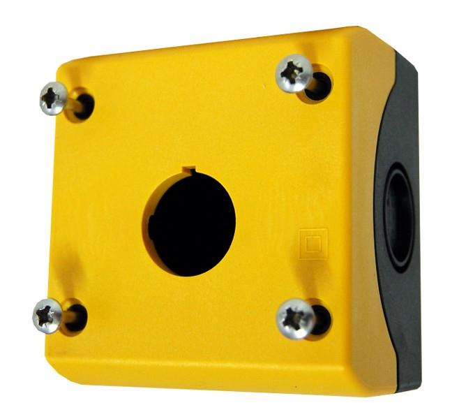 1 Stk AP-Gehäuse 1 Befehlsstelle schwarz/gelb MM216536--