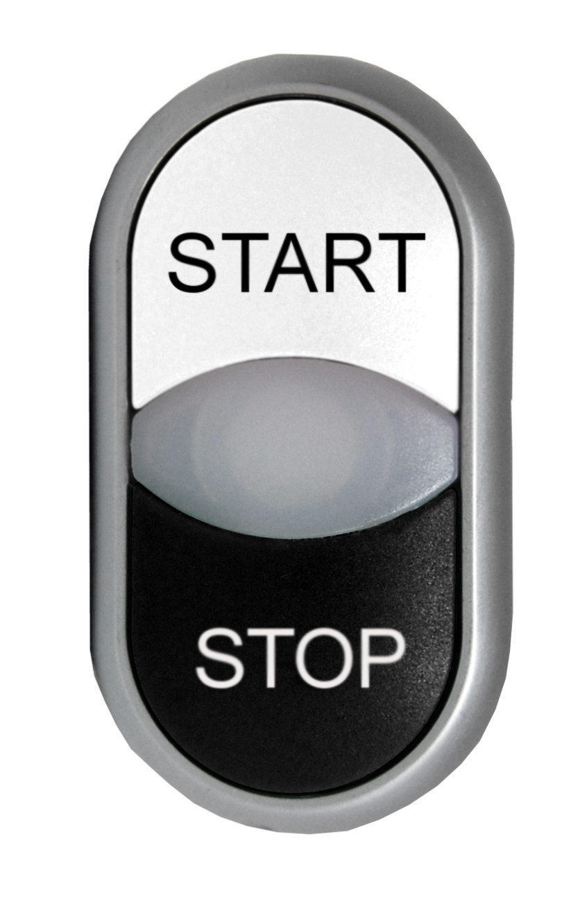 1 Stk Doppeldrucktaste tastend bel. schwarz/weiss STOP/START MM216708--