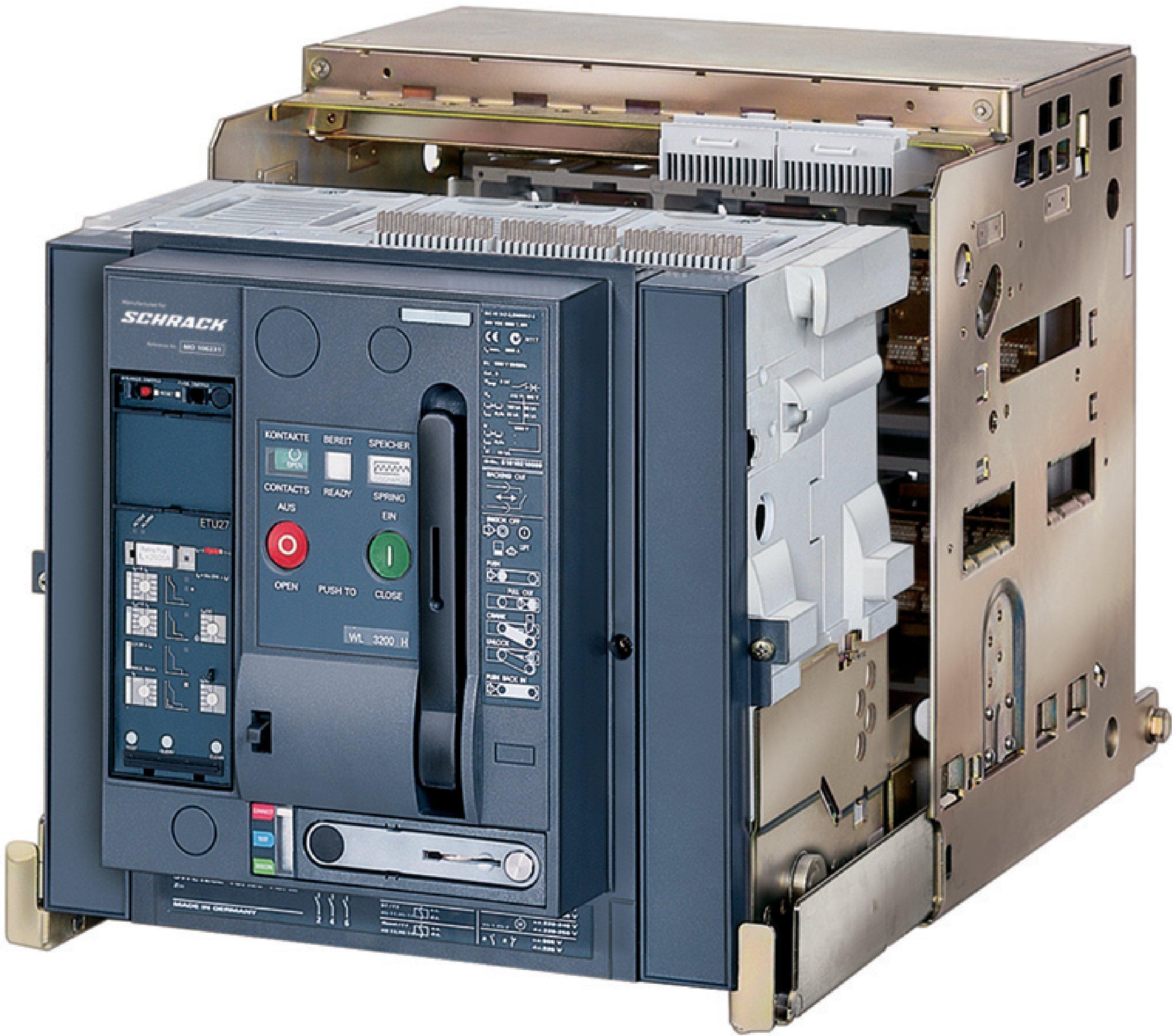 1 Stk Leistungsschalter, MO2, 3-polig, 1600A, 80kA, ausfahrbar, RH MO216336--