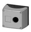 1 Stk Aufbaugehäuse 1-Loch, schwarz/grau MSG11000--