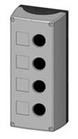 1 Stk Aufbaugehäuse 4-Loch, schwarz/grau MSG41000--