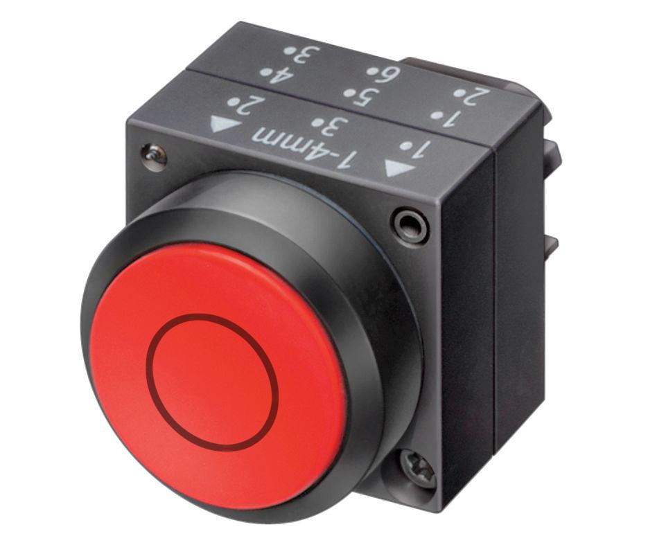 1 Stk Drucktaste, rot 0 MST12040--