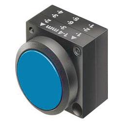 1 Stk Drucktaste rastend, blau MST15000R-
