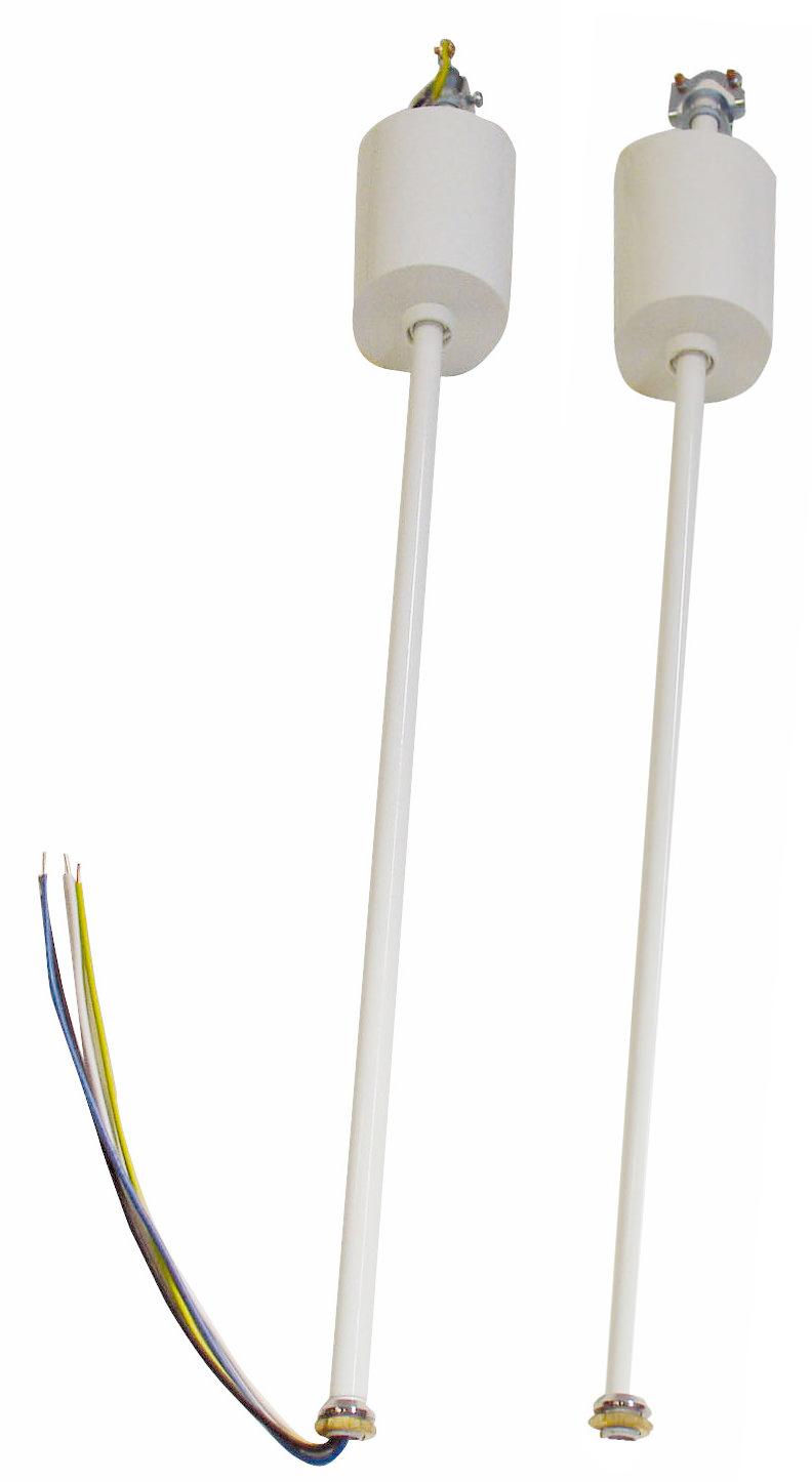1 Stk Pendelpaar 500mm weiß verdrahtet NL2PW-----