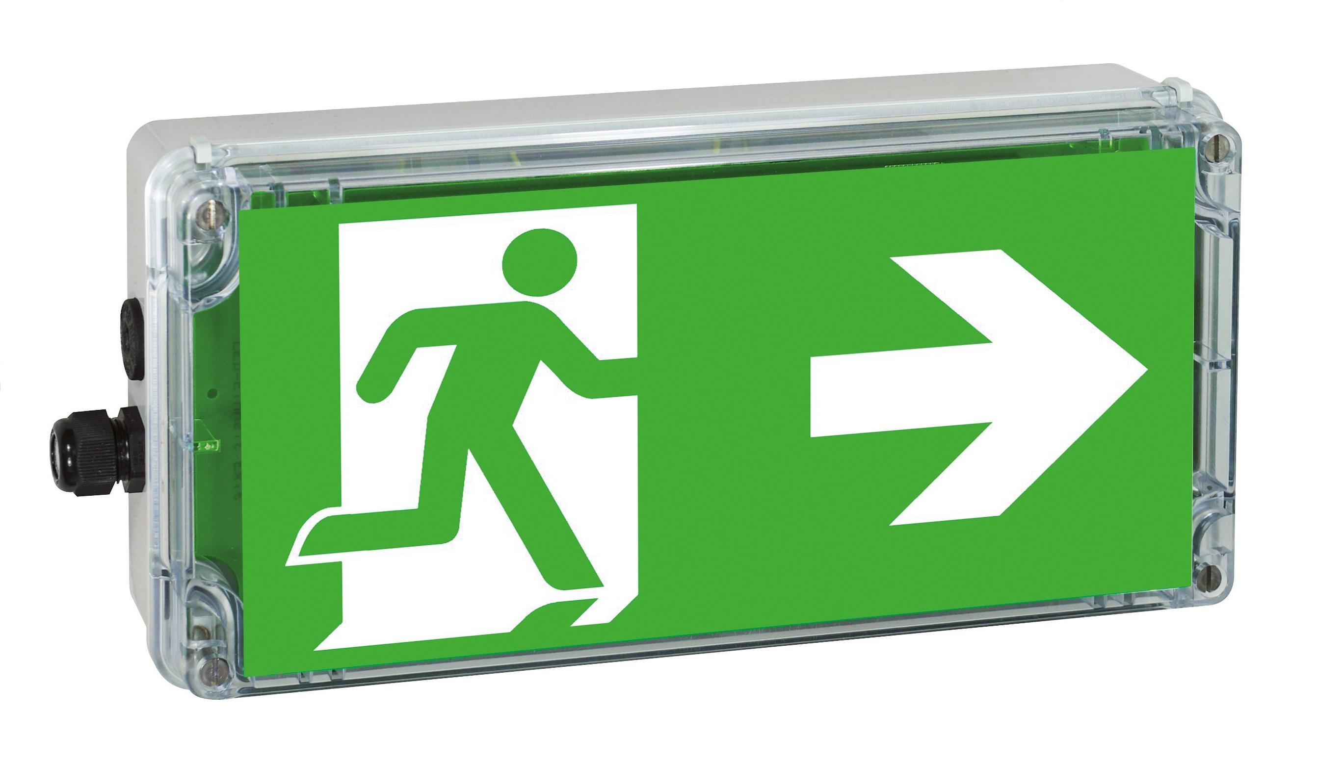 Ex-Notleuchte EXIT Zone 1/21 LED 230 VAC/DC, Pfeil rechts
