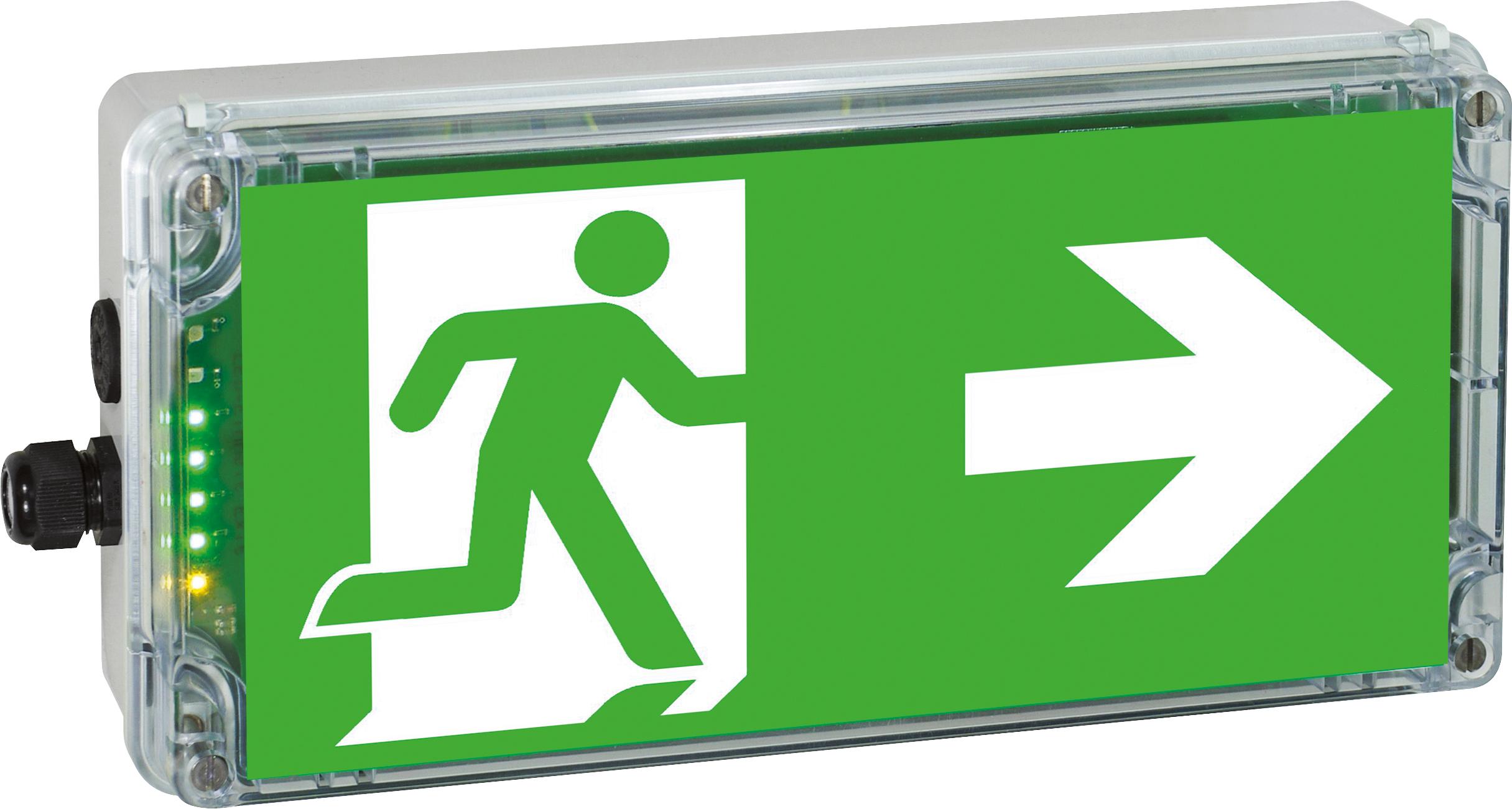 Ex-Notleuchte EXIT 2 N Zone 2/22 LED 3h 230V AC,Pfeil rechts