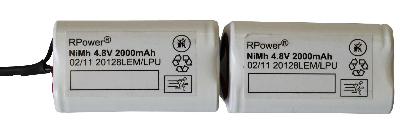 Akku 9,6V 2,0 Ah für EB-Leuchten ERT-LED 1h, 3h, 8h