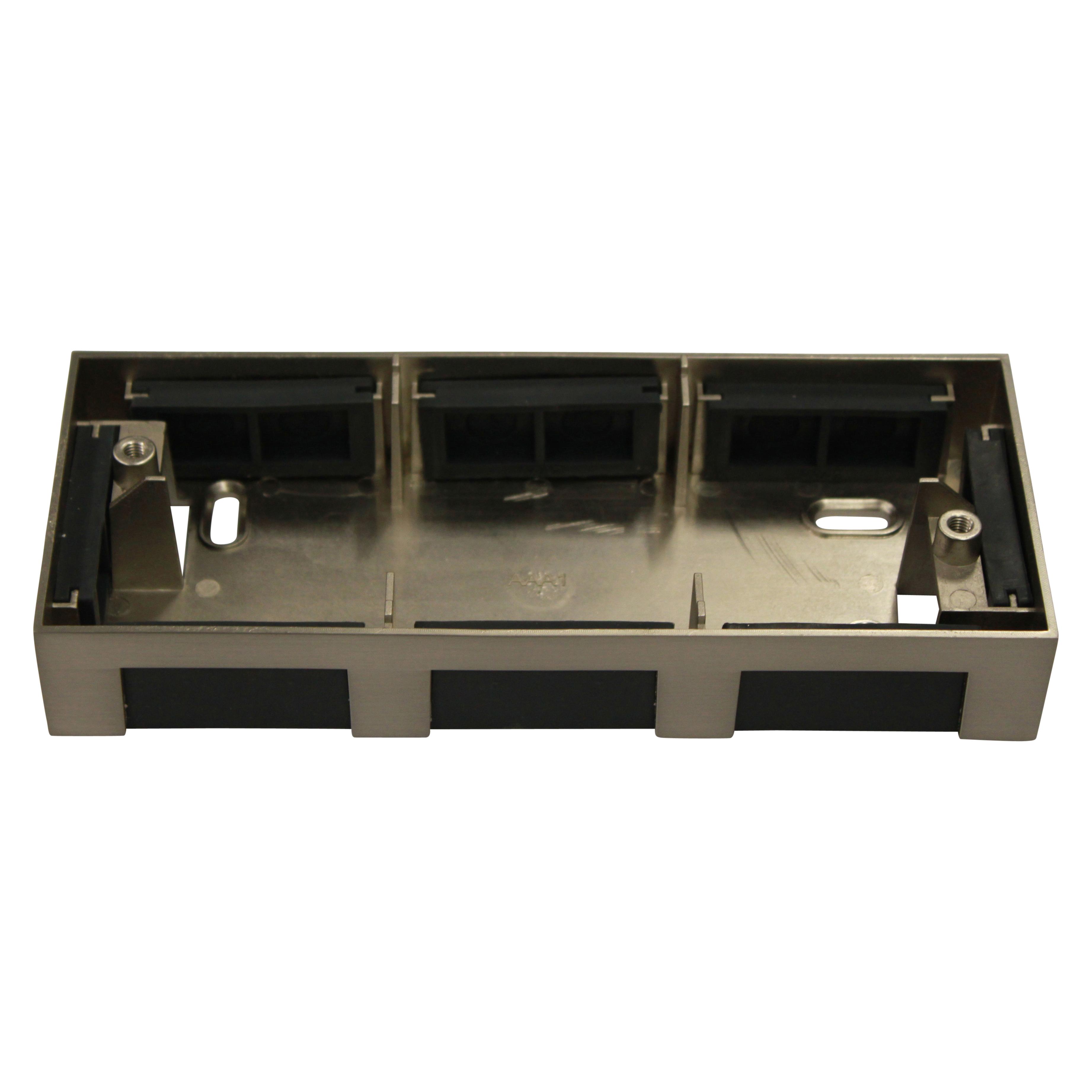 1 Stk Anbauadapter fü�r Notleuchten Design AM/AX Edelstahl Optik NLAMAXAPAE