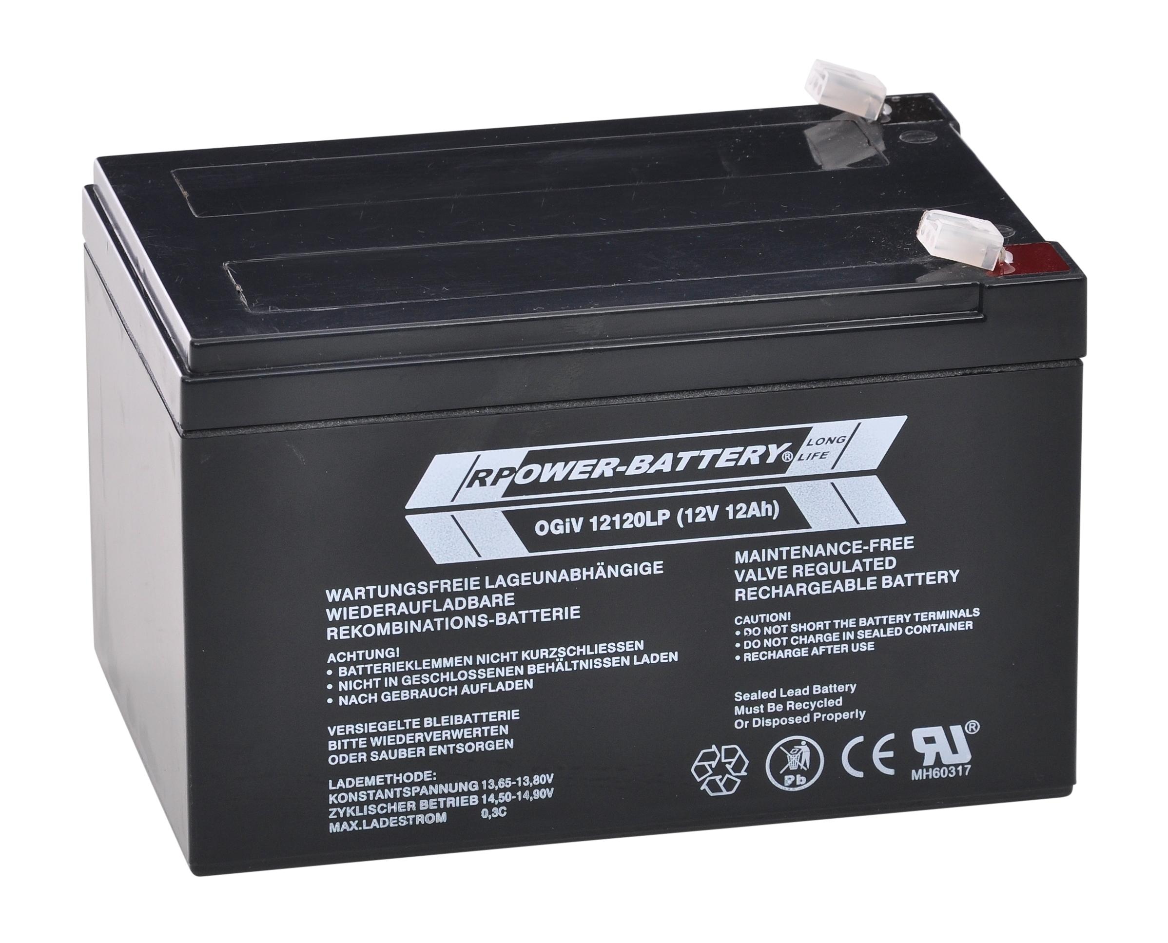 Batterie RPower OGiV longlife bis 12 Jahre 12V/12Ah (C20)