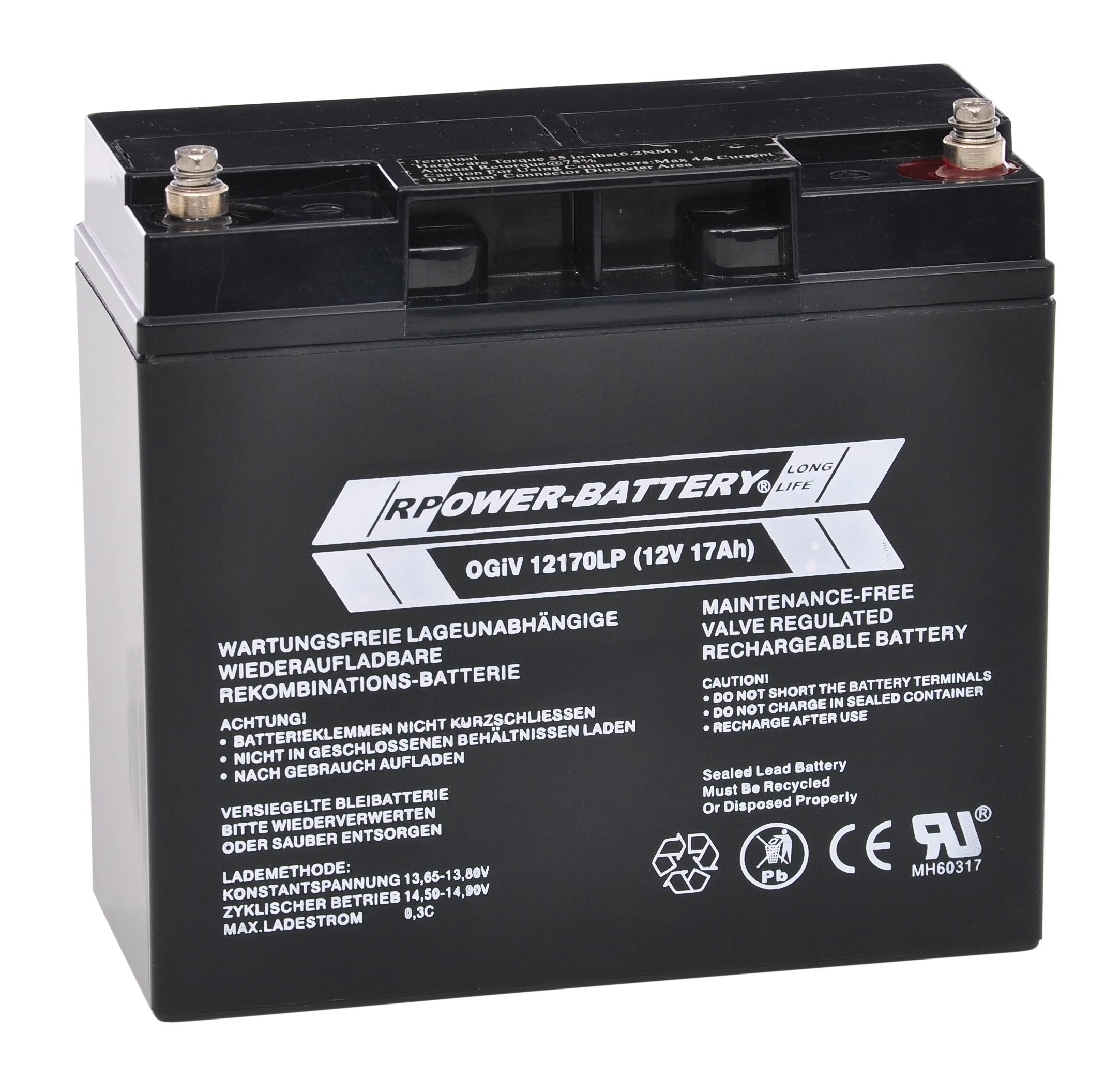 Batterie RPower OGiV longlife bis 12 Jahre 12V/17Ah (C20)