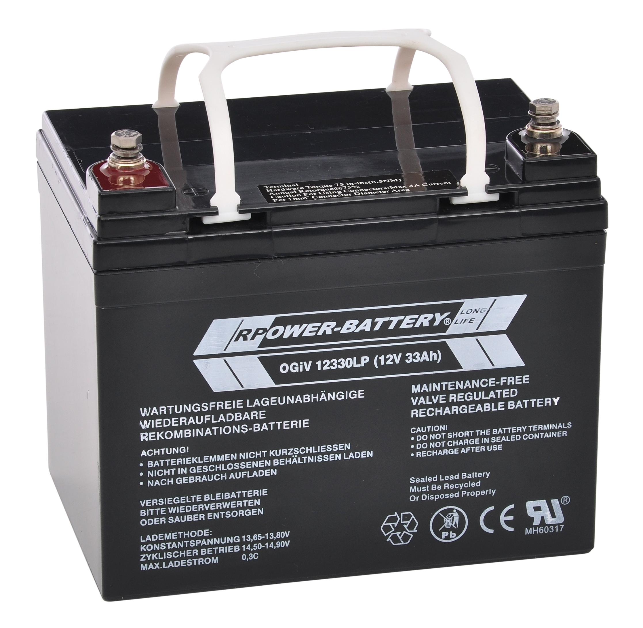 Batterie RPower OGiV longlife bis 12 Jahre 12V/34Ah (C20)