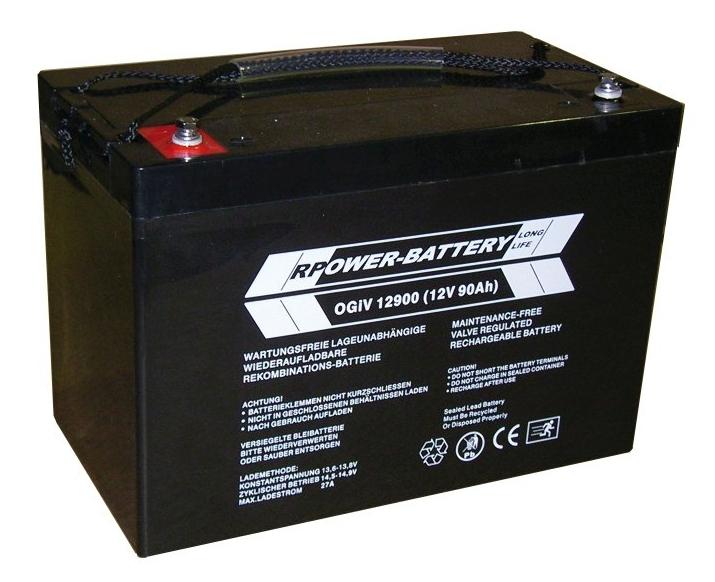 Batterie RPower OGiV longlife bis 12 Jahre 12V/62Ah (C20)