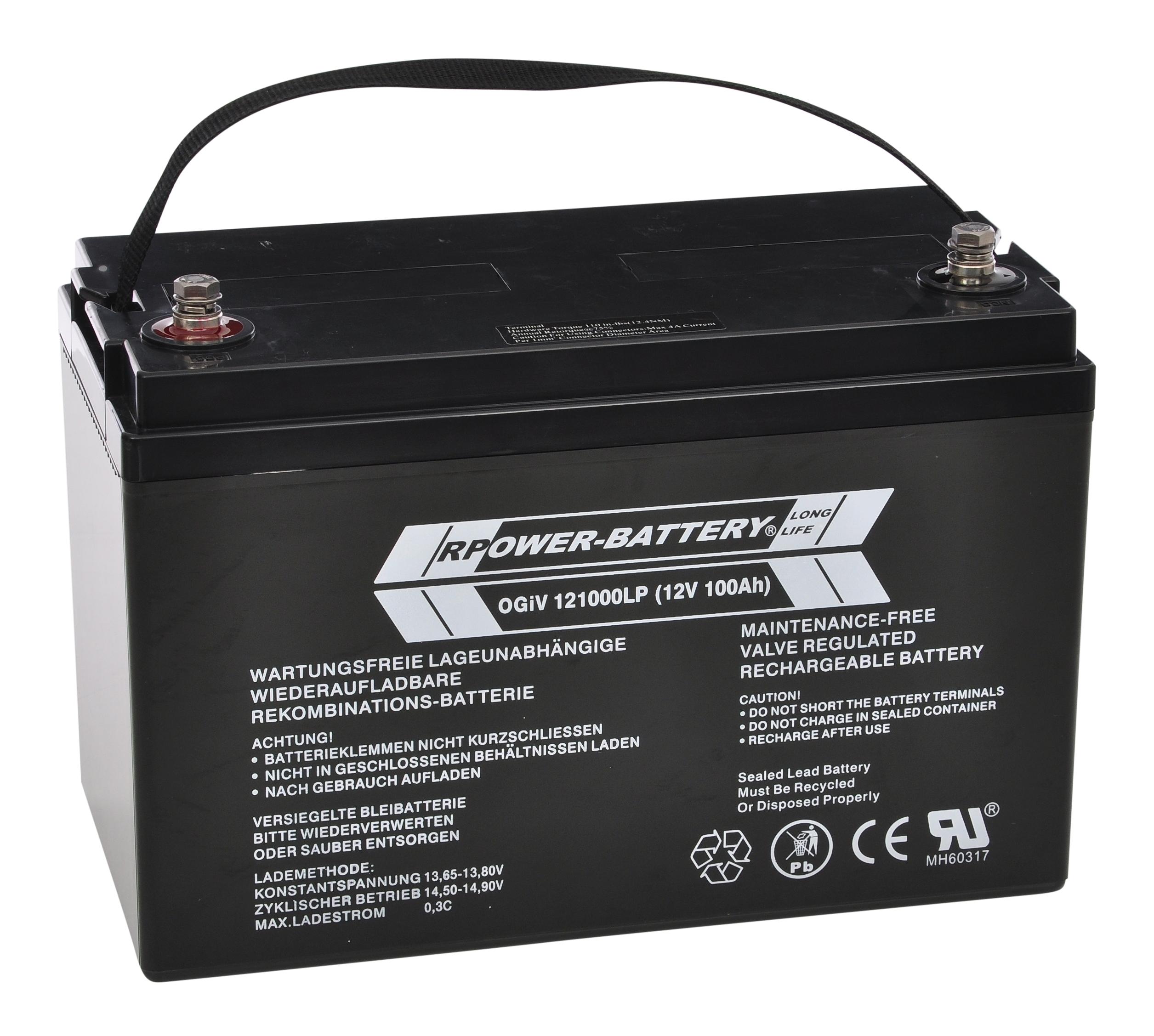 Batterie RPower OGiV longlife bis 12 Jahre 12V/106Ah (C20)