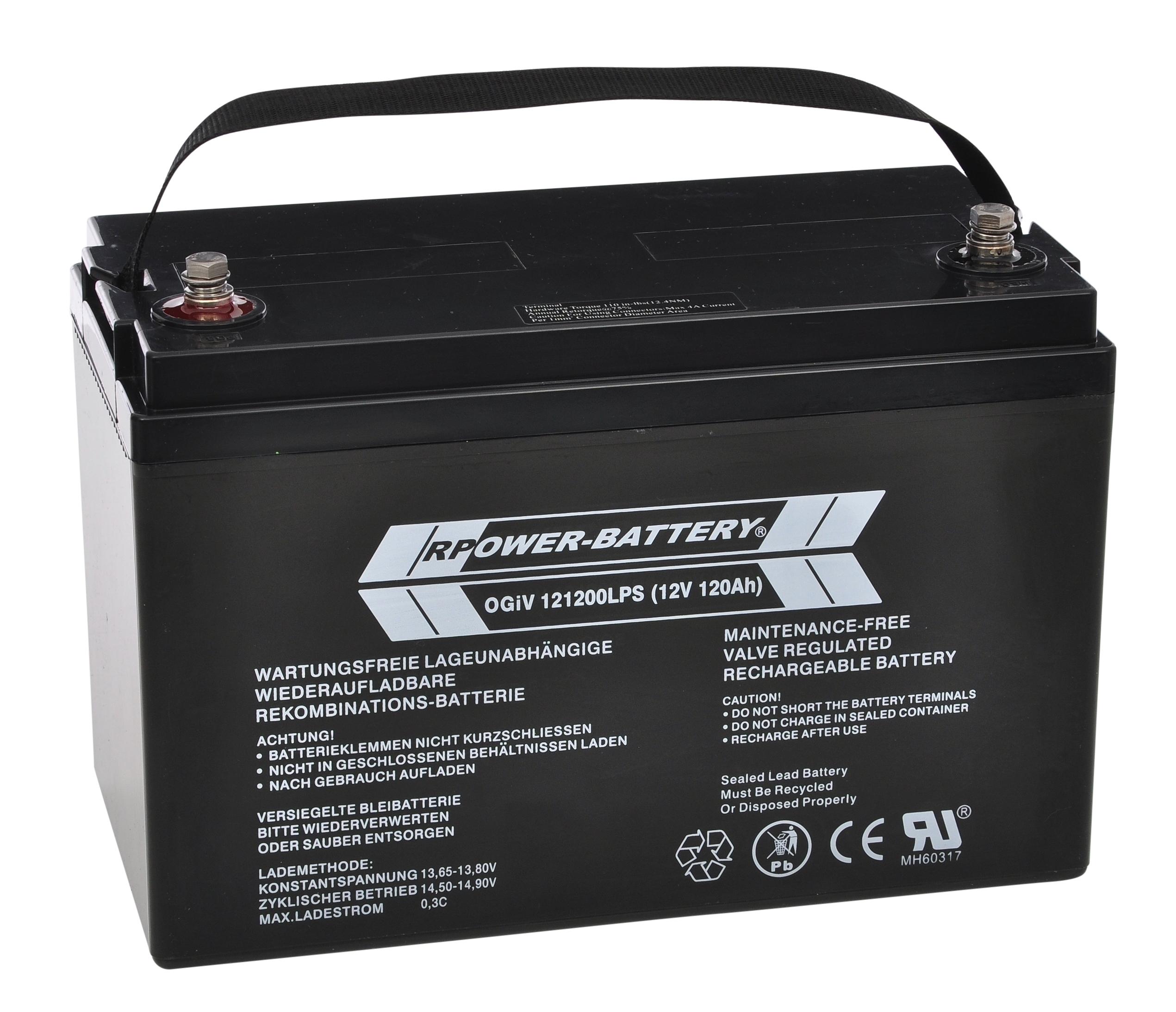 Batterie RPower OGiV longlife bis 12 Jahre 12V/126Ah (C20)