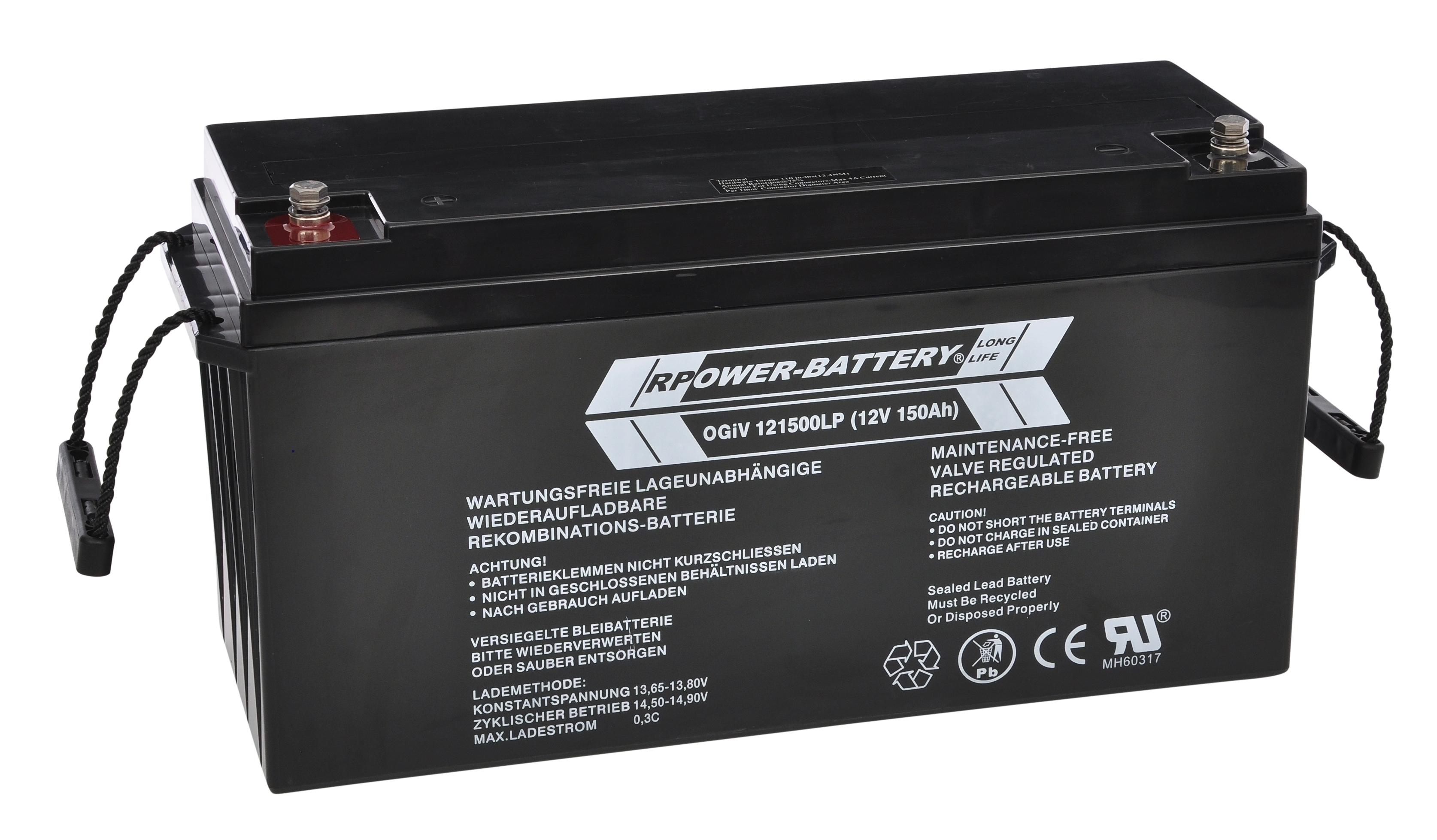 Batterie RPower OGiV longlife bis 12 Jahre 12V/158Ah (C20)