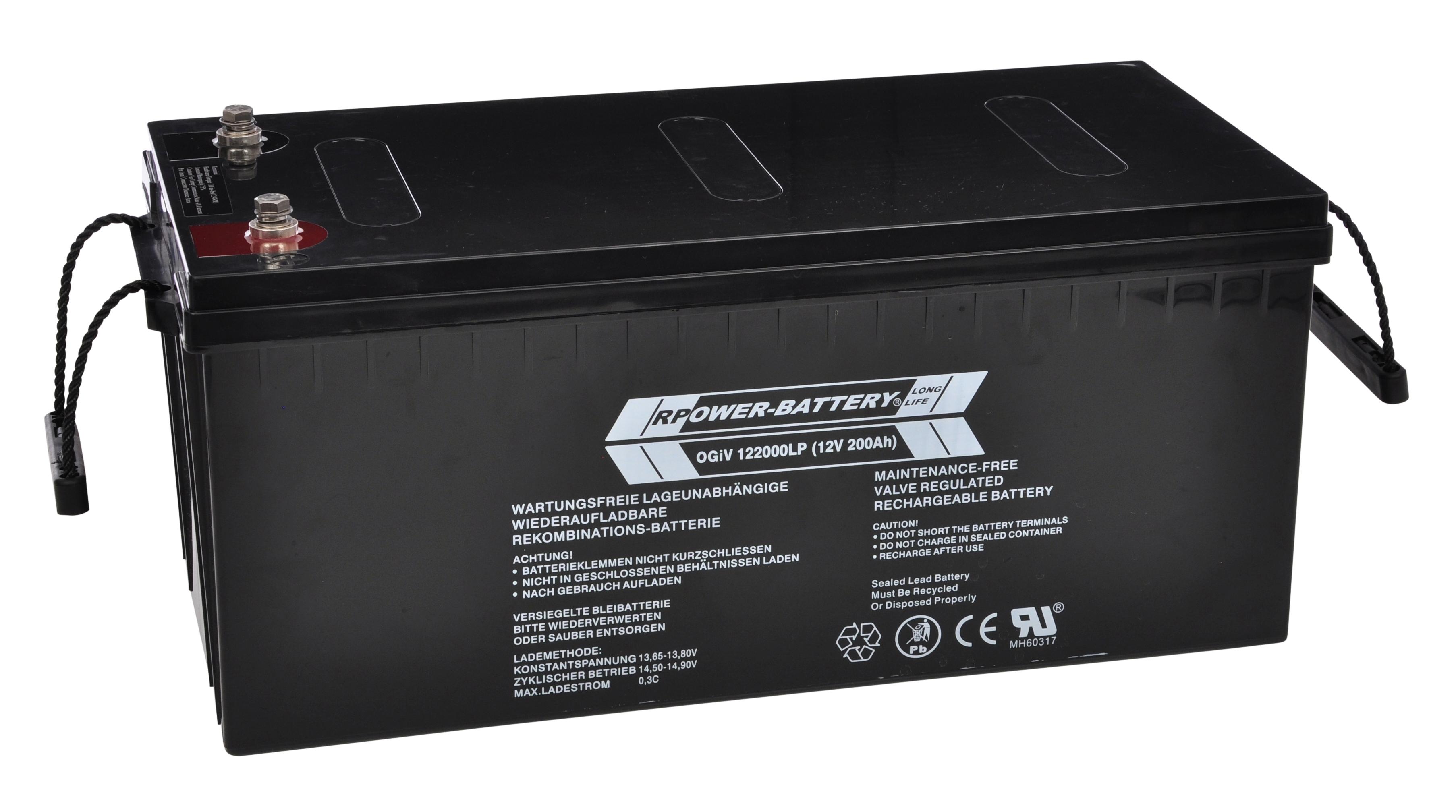 Batterie RPower OGiV longlife bis 12 Jahre 12V/212Ah (C20)