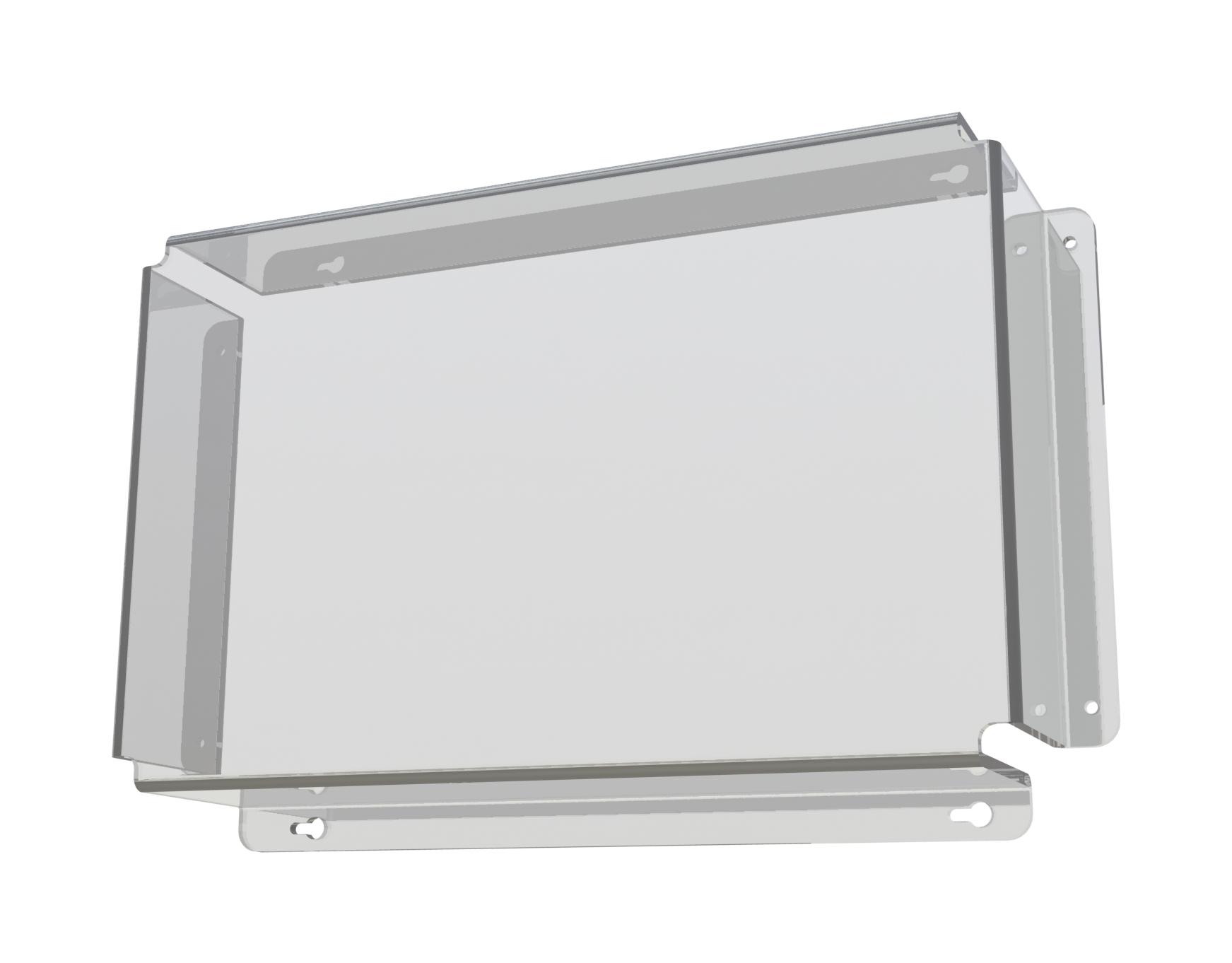 1 Stk Ballschutz aus Plexiglas LxBxH=430x290x88mm Wandstärke 5mm NLBALLPLX1