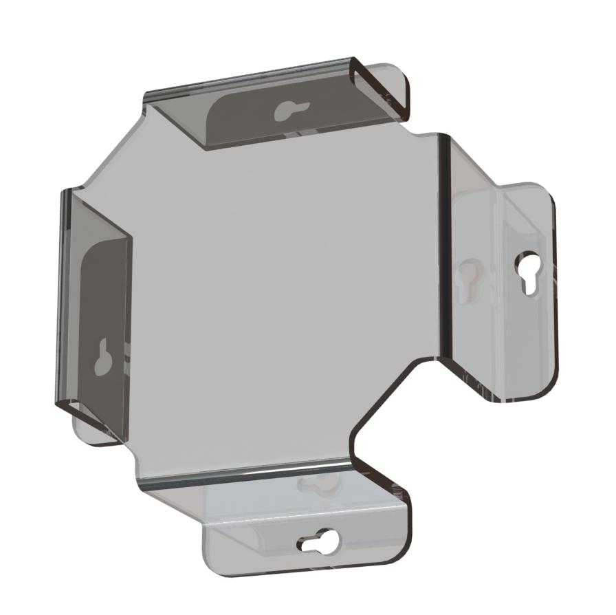 1 Stk Ballschutz aus Plexiglas LxBxH=190x190x62mm für IL/EA NLBALLPLX4