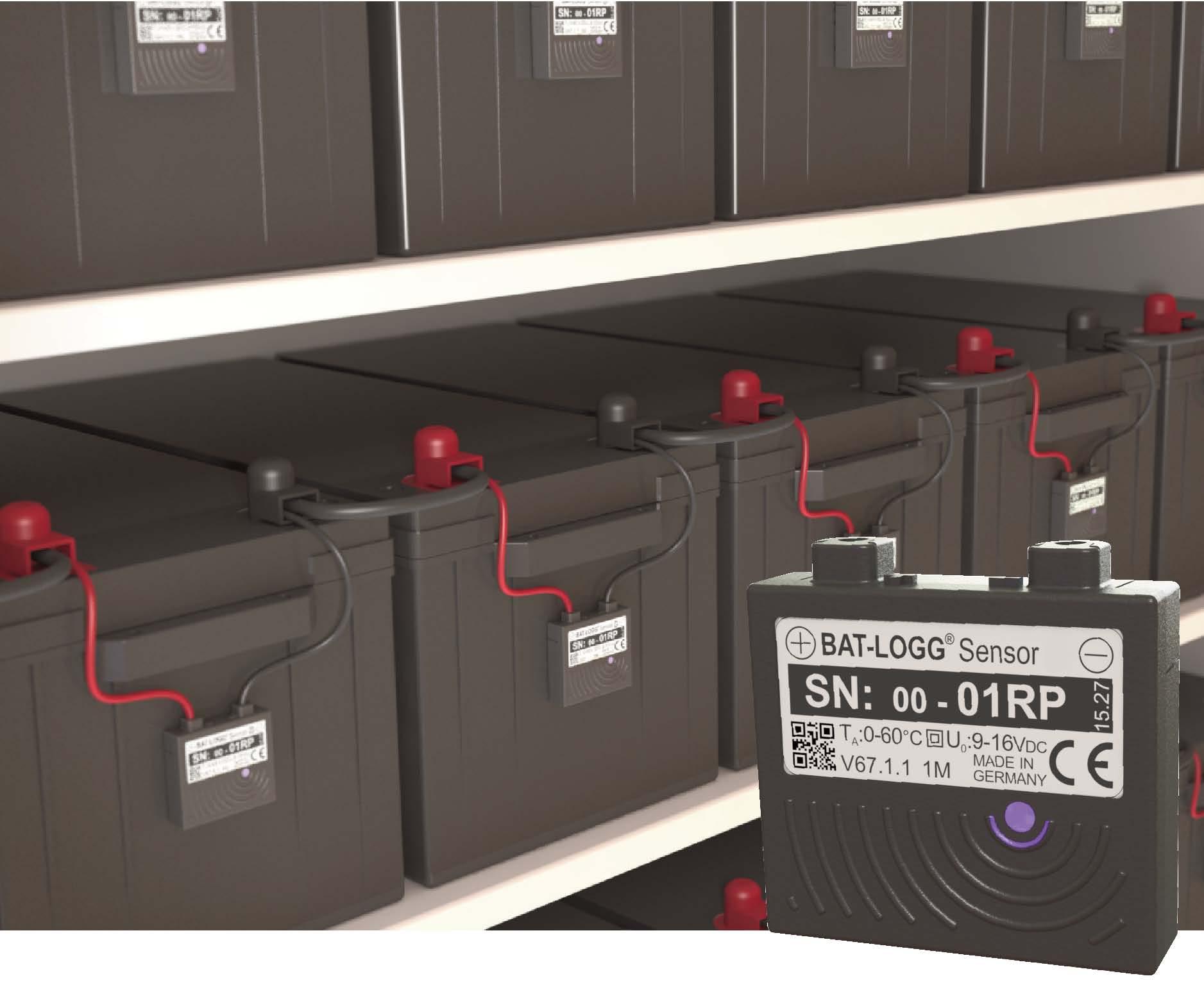 Einzelblockbatt.überwachung Batlogg® f.18 Batterien 17-60Ah