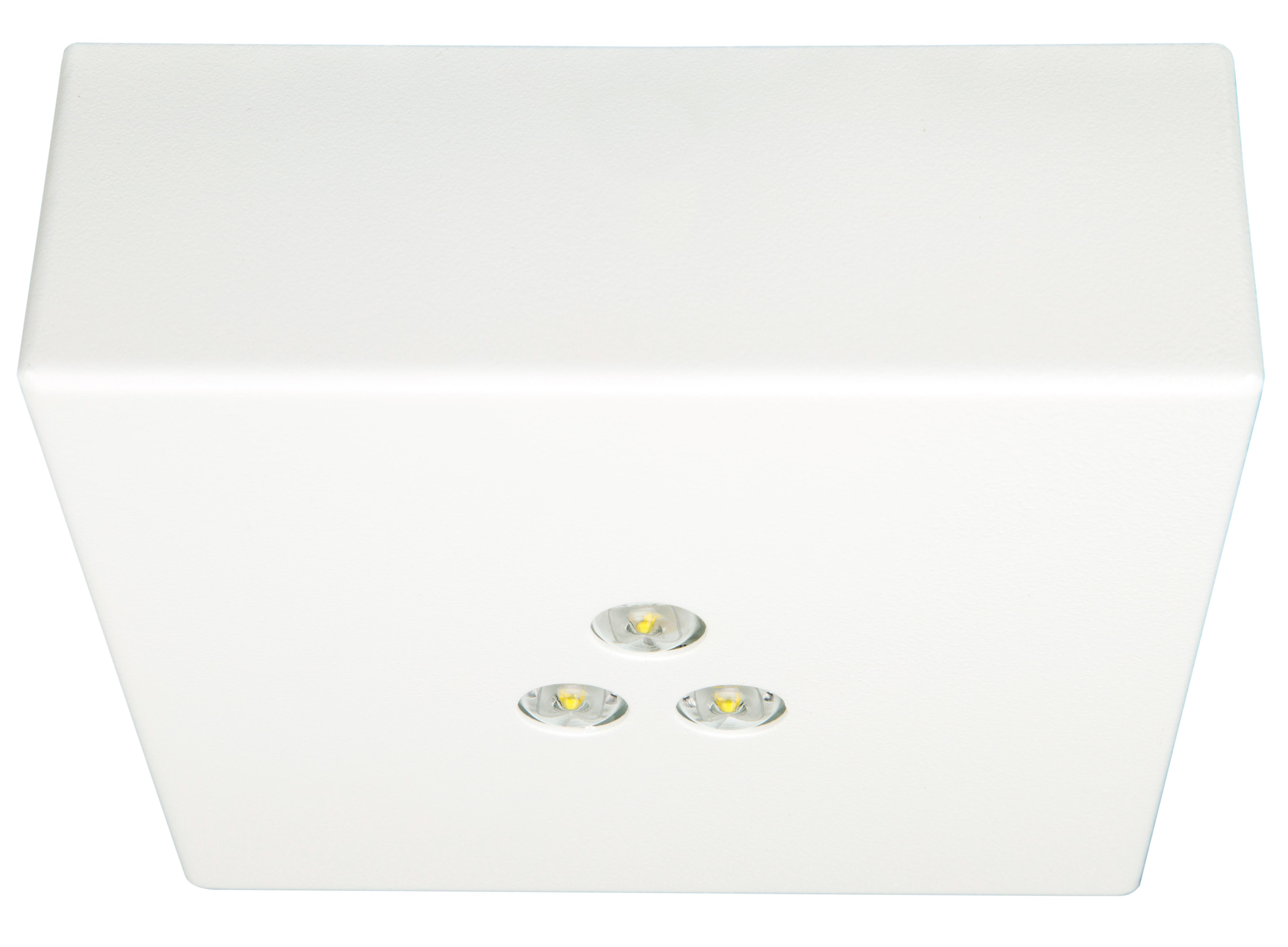 1 Stk Notleuchte DAQ 3x1W ERT-LED 230V EL,  Deckenanbaumontage NLDAQ029EL