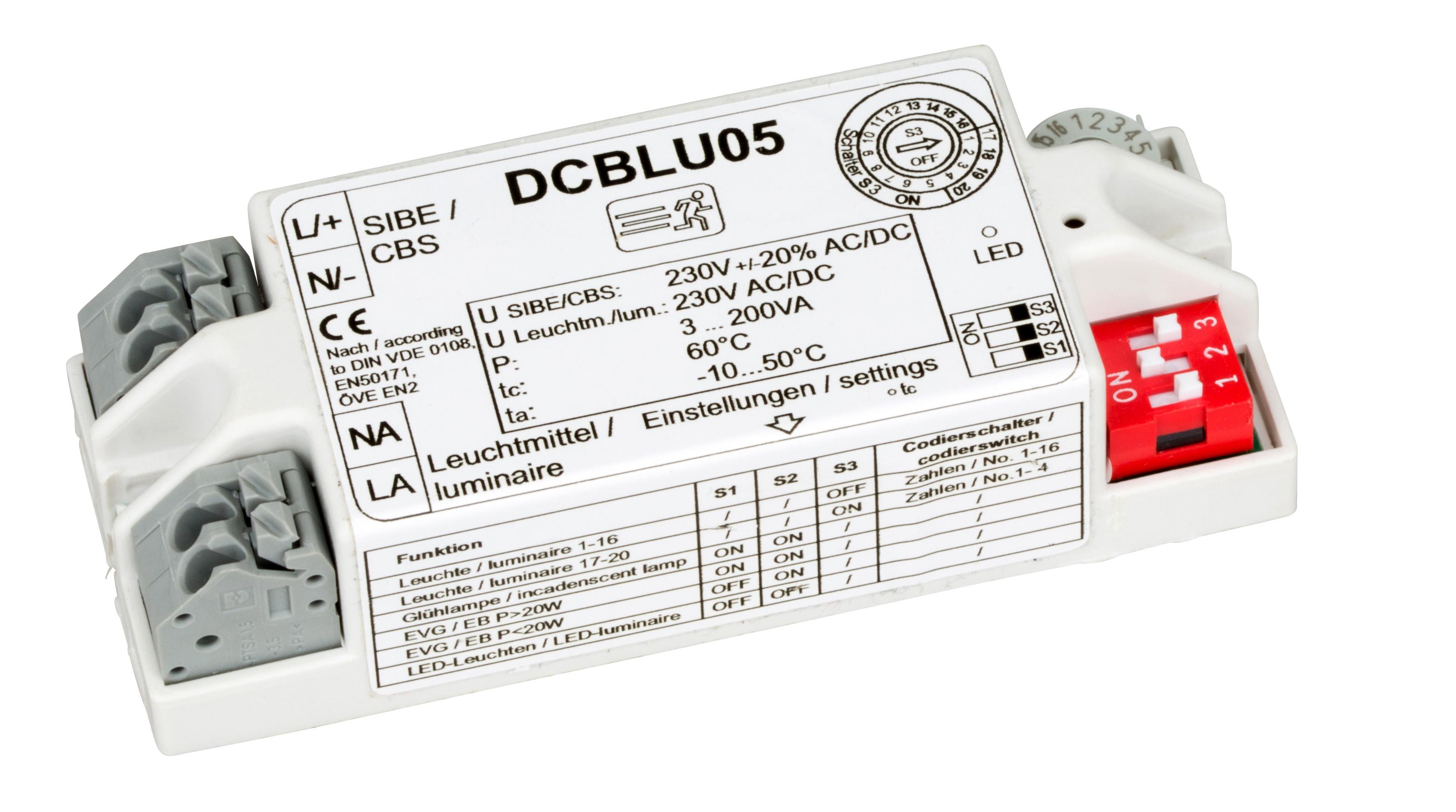 Einzelleuchtenüberwachungsbaustein für CPS/LPS-Anlagen
