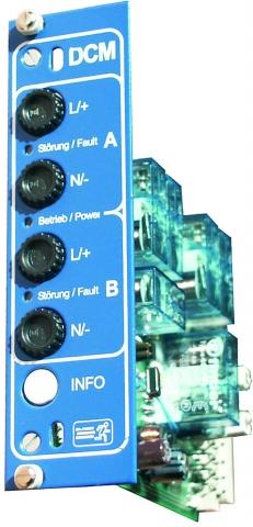 2-fach Stromkreiseinschub DCM 19 2x4A Mischbetrieb DS/BS