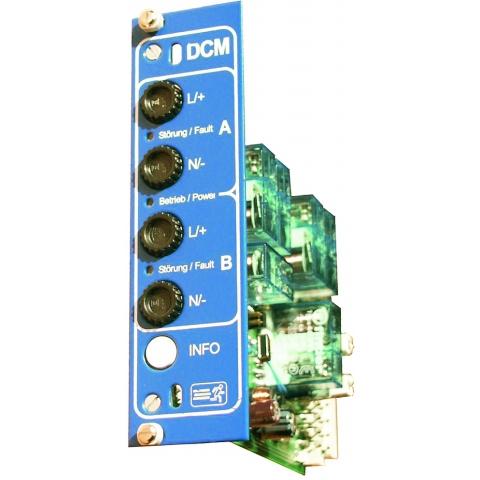 Stromkreiseinschub DCM 19 2x4A Mischbetrieb DS/BS eingebaut
