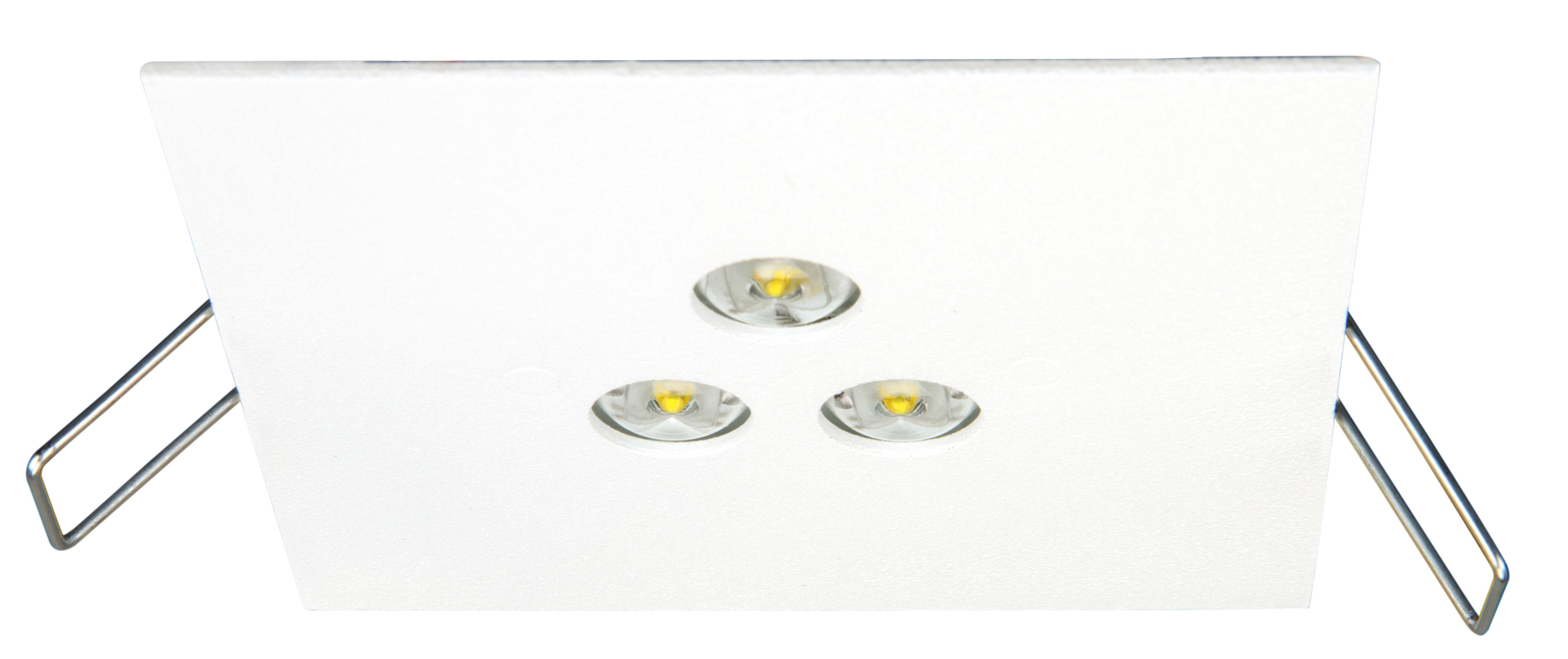 1 Stk Notleuchte DEQ Autotest 3x1W ERT-LED 3h 230VAC NLDEQ023SC