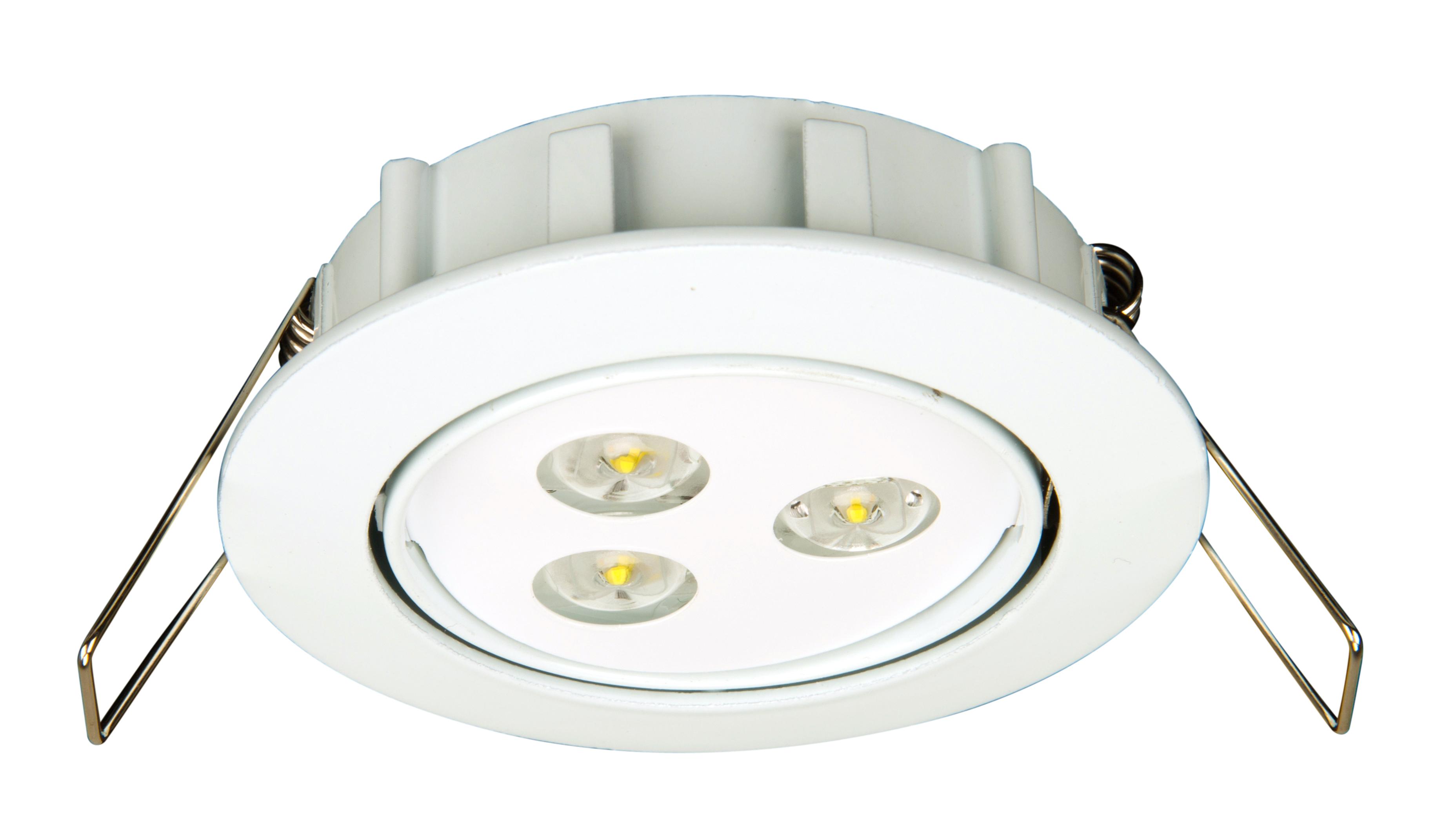 1 Stk Notleuchte DLE 3x1W ERT-LED 230V EL, Deckeneinbaumontage NLDLE029EL