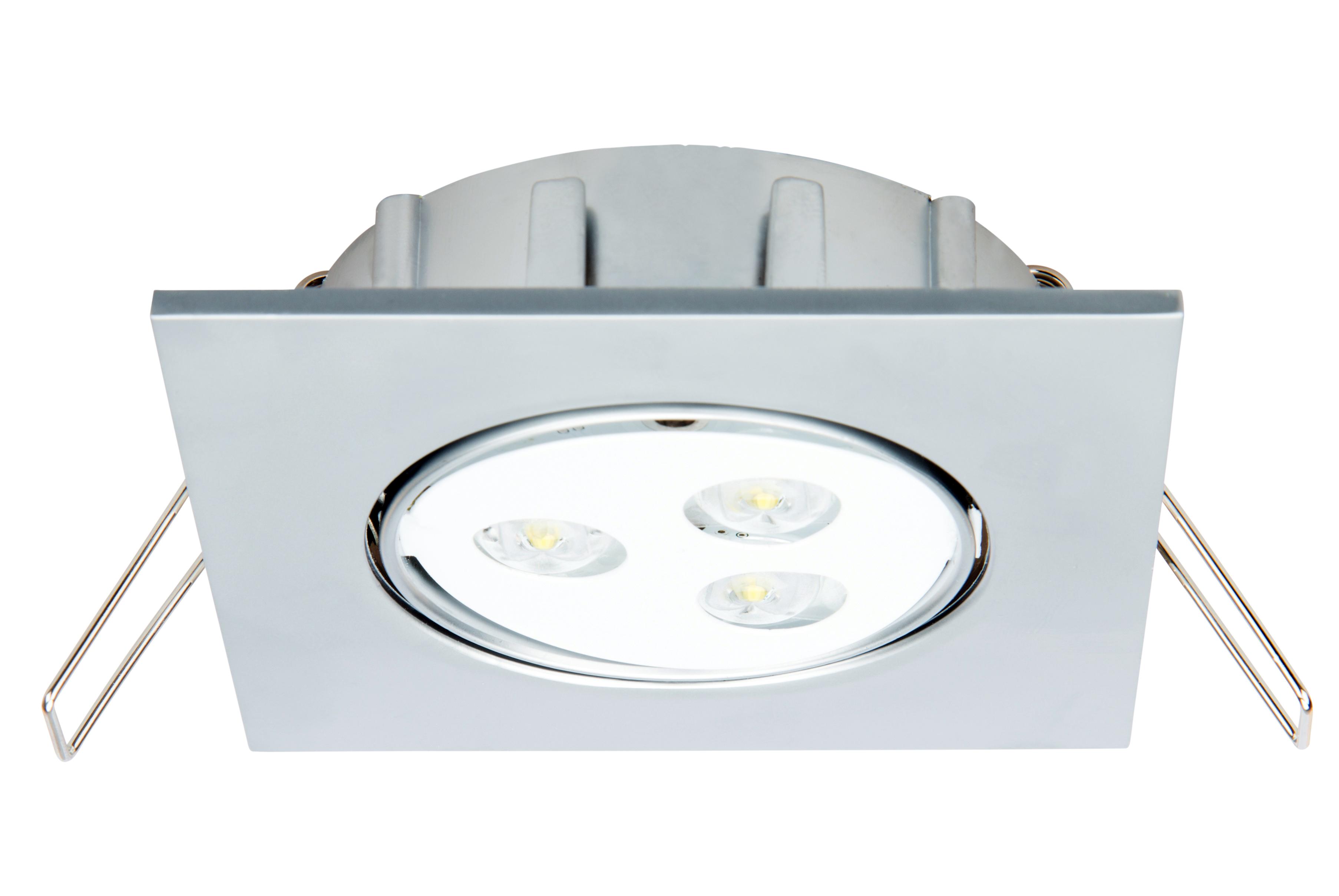 1 Stk Notleuchte DLQ 3x1W ERT-LED 230V EL, Deckeneinbaumontage NLDLQ029EL