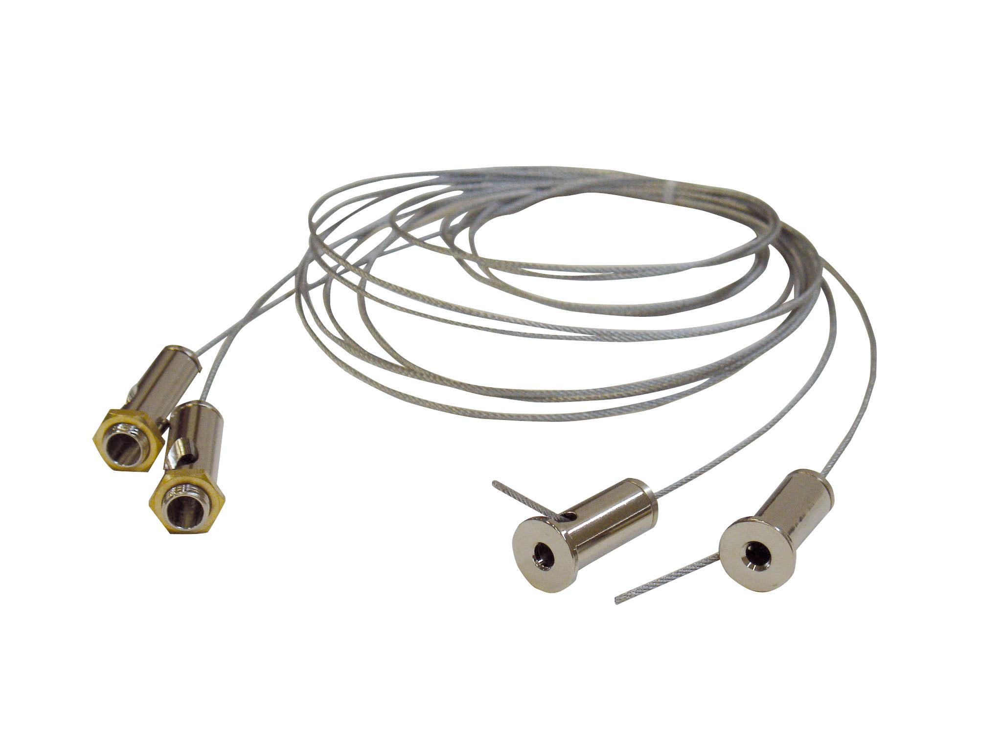 1 Stk Design-Seilaufhängung 2000mm, 1 Paar NLDSA000--