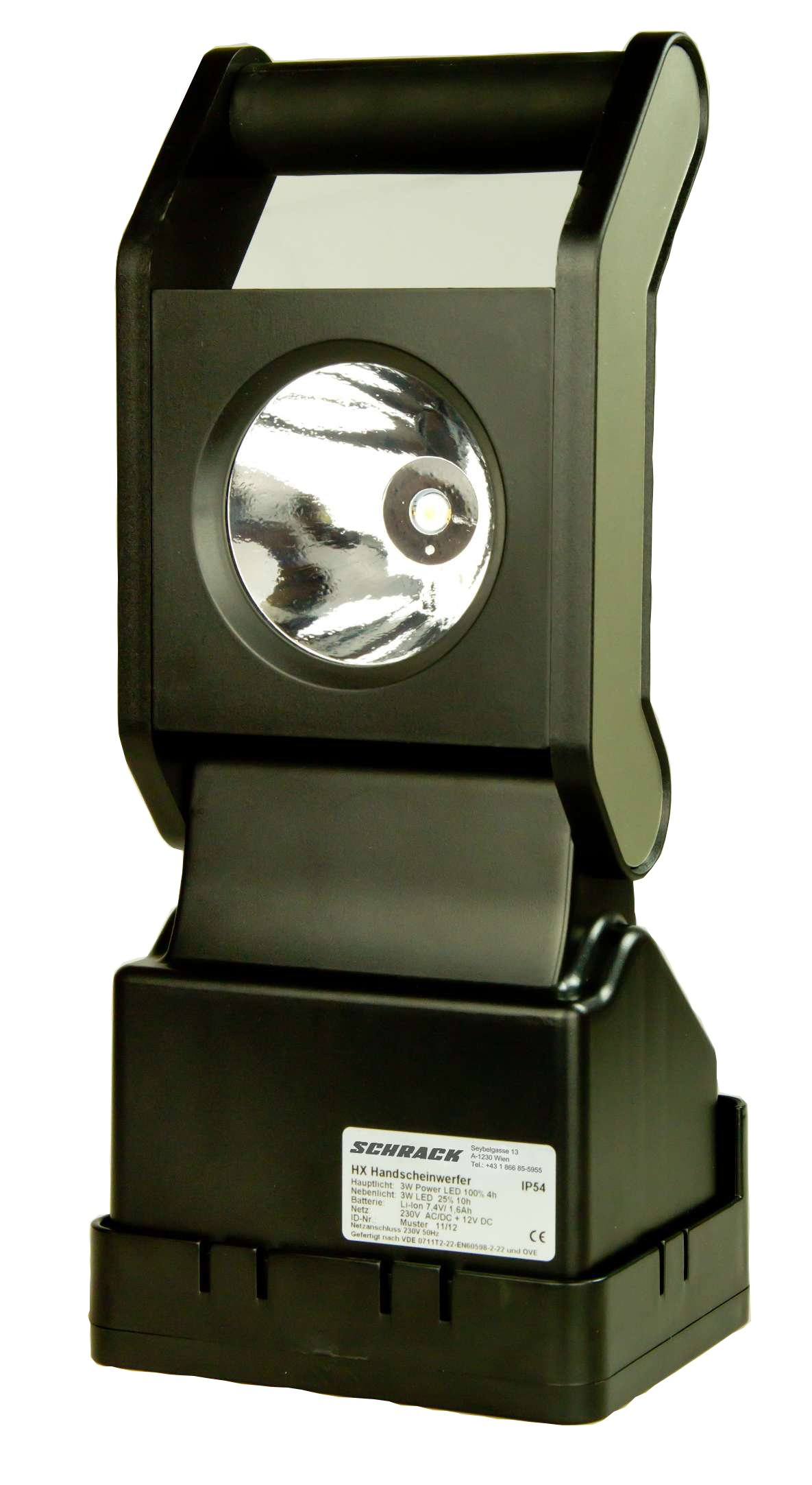 1 Stk Akkuhandscheinwerfer mit Notlichtfunktion LED 3W, Magnetfuß NLHXLED---