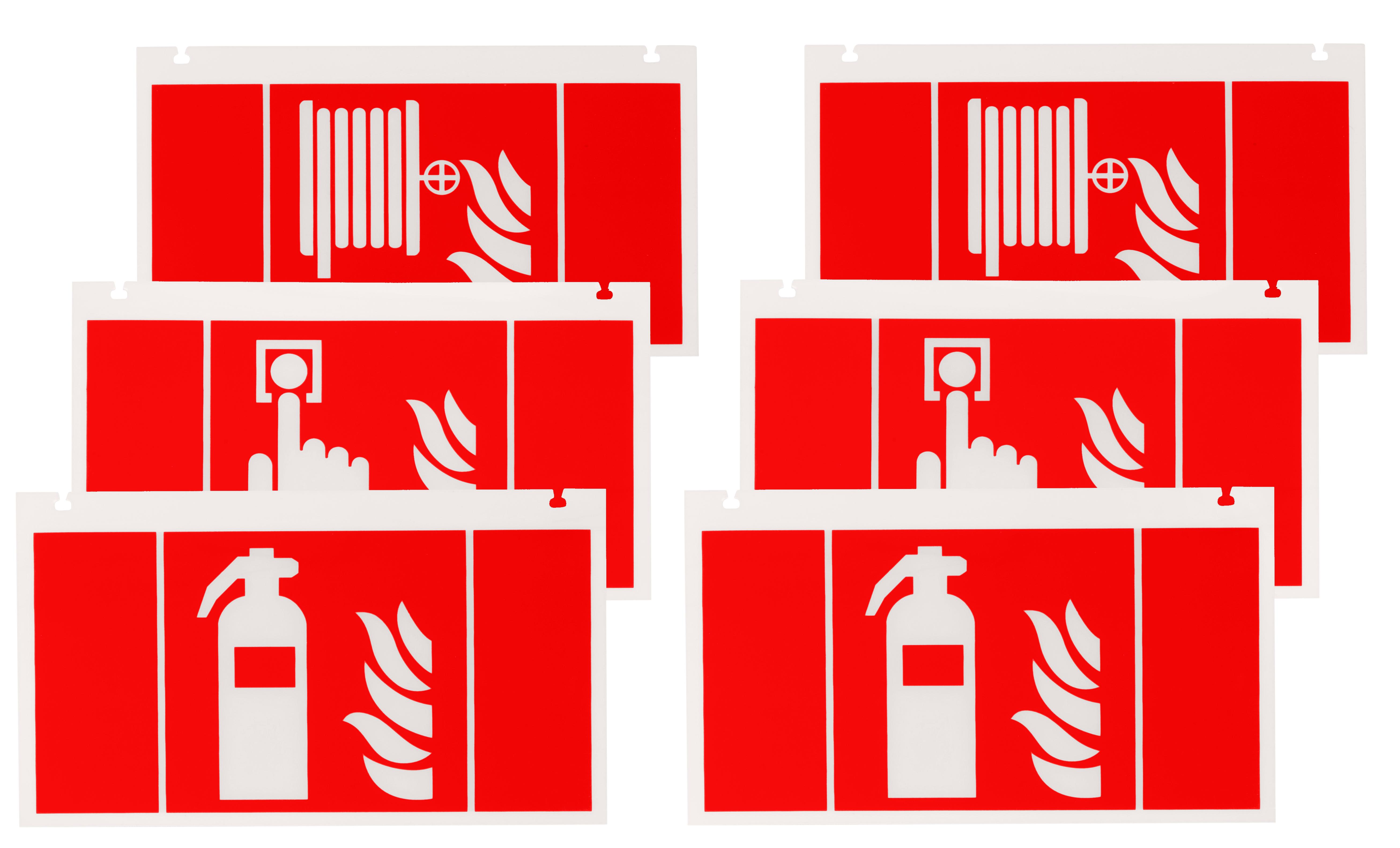 1 Stk Piktogrammset Brandschutz für NLKSC.. mit 2x3 Steckpiktos NLKS3FIRE-